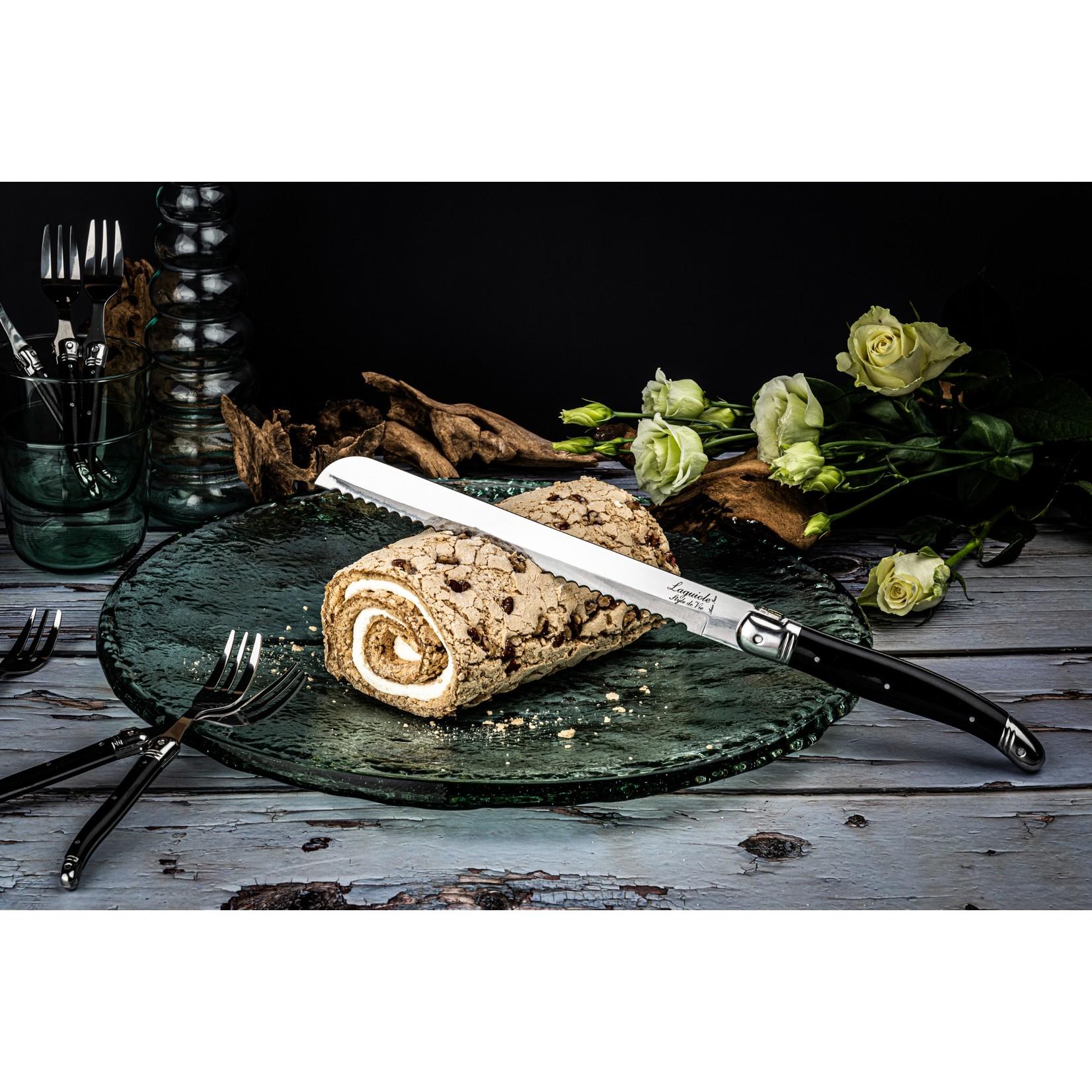 Laguiole Style de Vie Laguiole Style de Vie Premium Line broodmes 20cm zwart