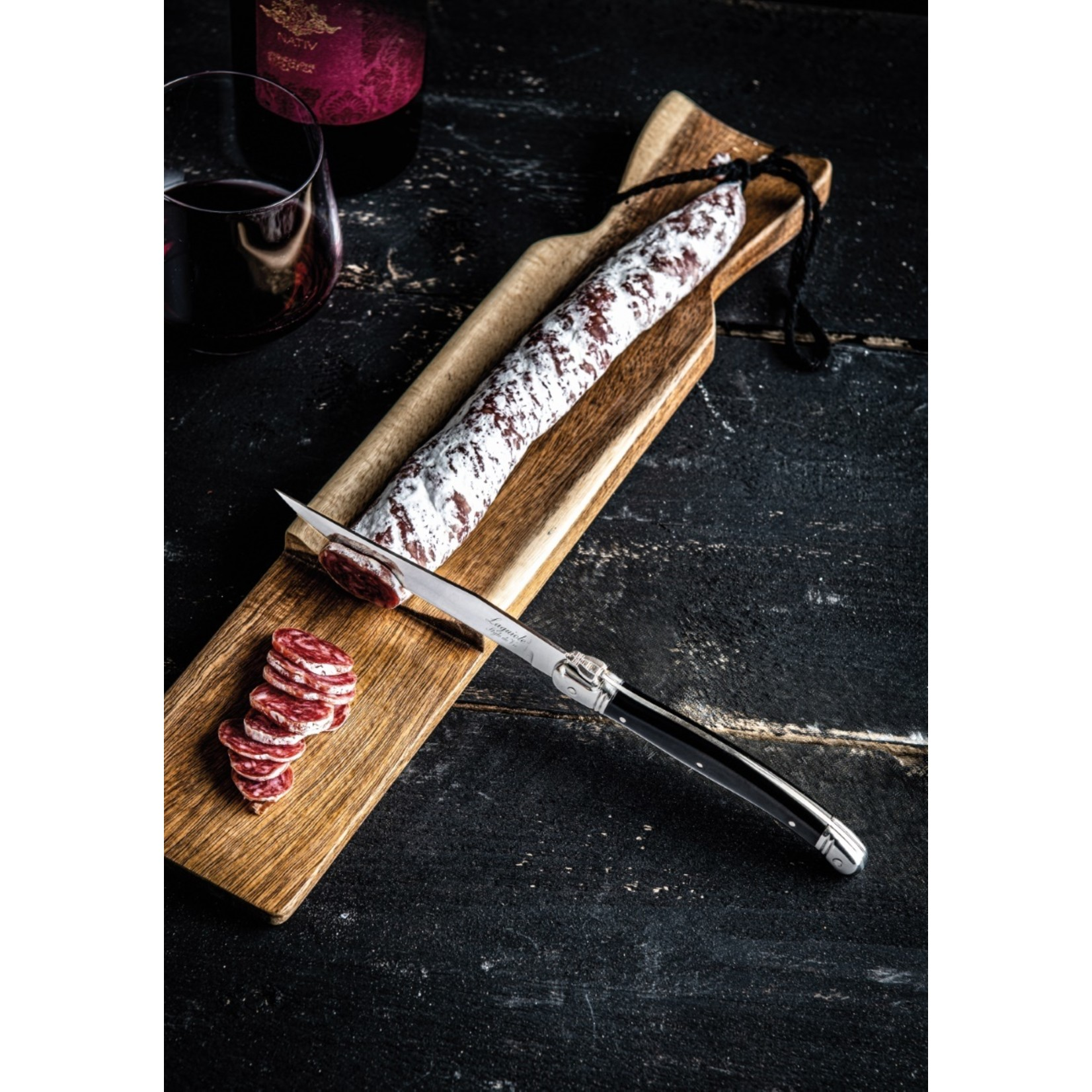 Laguiole Style de Vie Laguiole Style de Vie Premium Line snijplank met worstmes