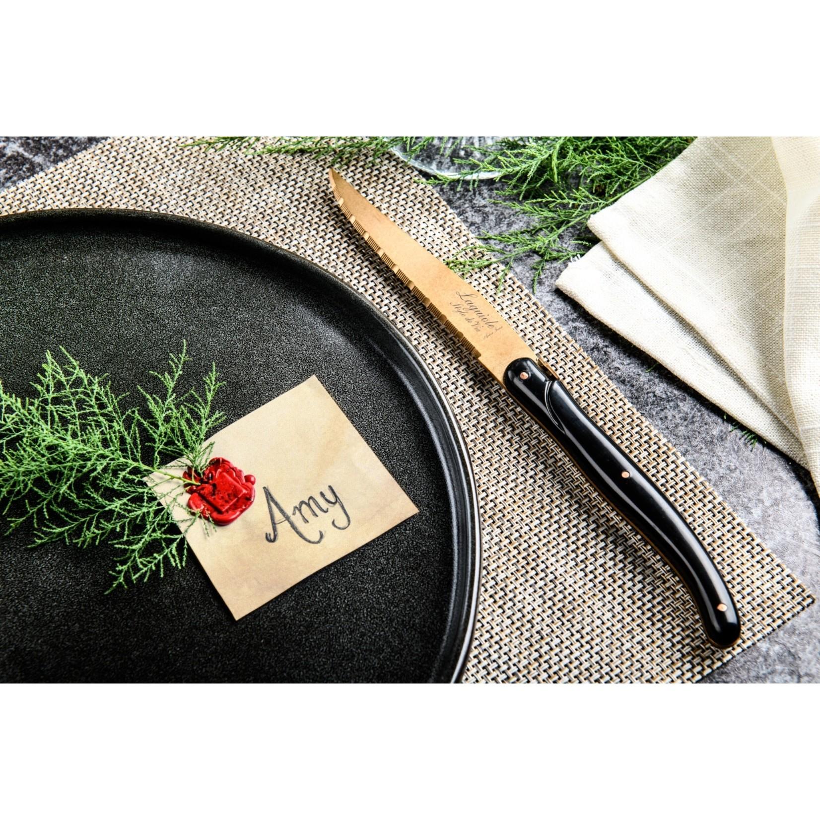 Laguiole Style de Vie Laguiole Style de Vie Prestige Line steakmessenset 6-delig koper