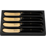 Laguiole Style de Vie Prestige Line botermes 4-delig goud