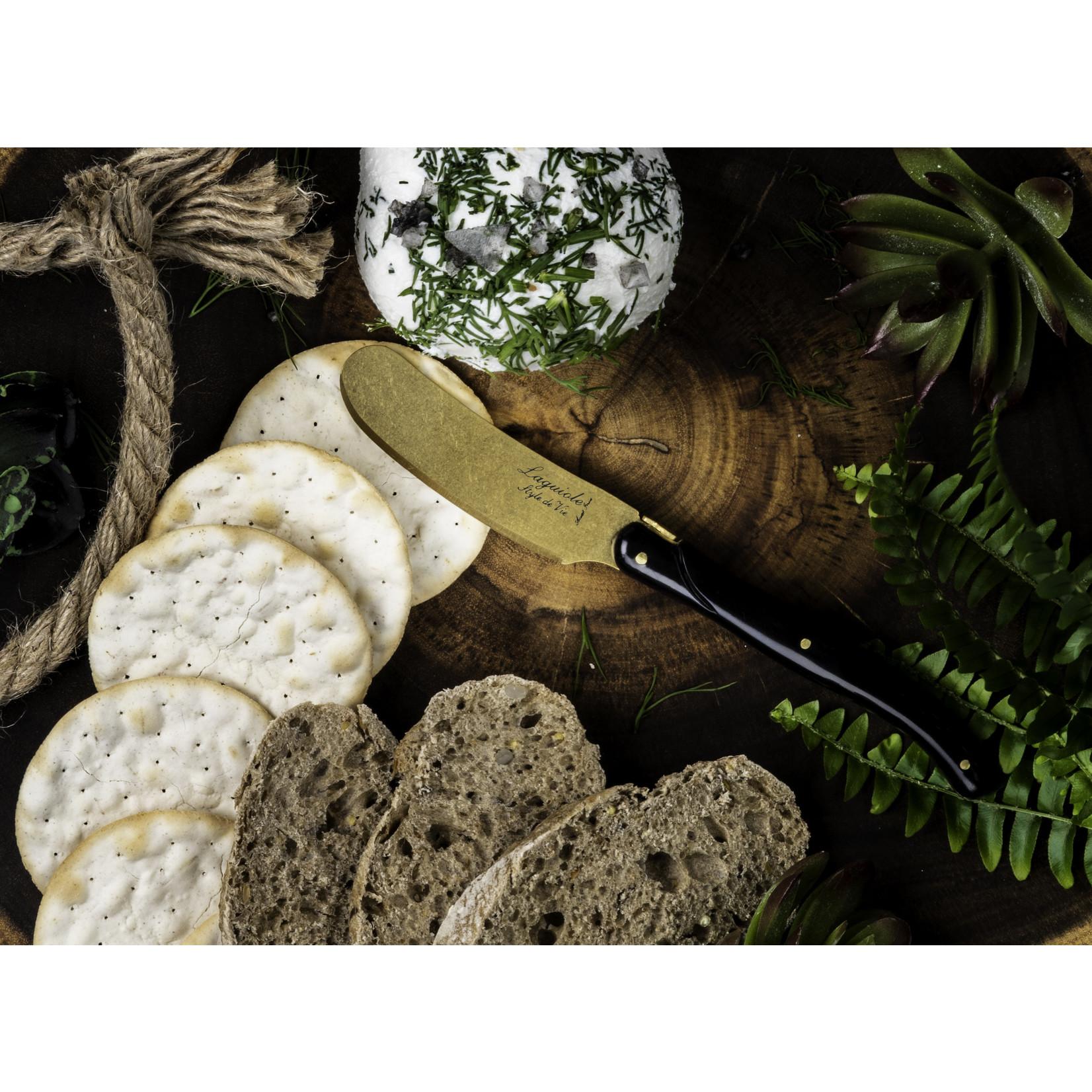 Laguiole Style de Vie Laguiole Style de Vie Prestige Line botermessenset 4-delig goud