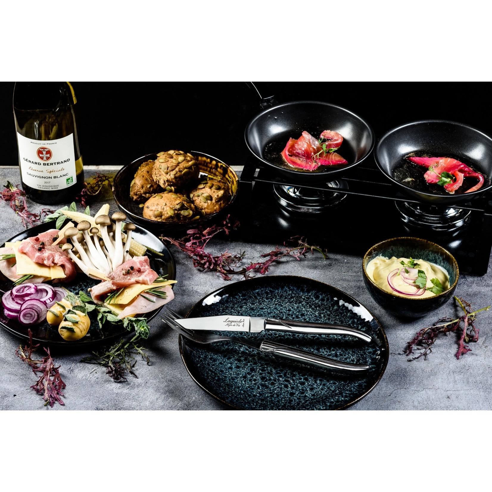 Laguiole Style de Vie Laguiole Style de Vie Luxury Line Steakmessenset 6-delig rvs