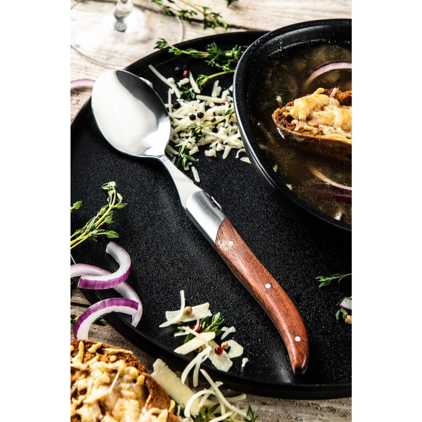 Laguiole Style de Vie Laguiole Style de Vie Luxury Line lepels 6-delig, rozenhout