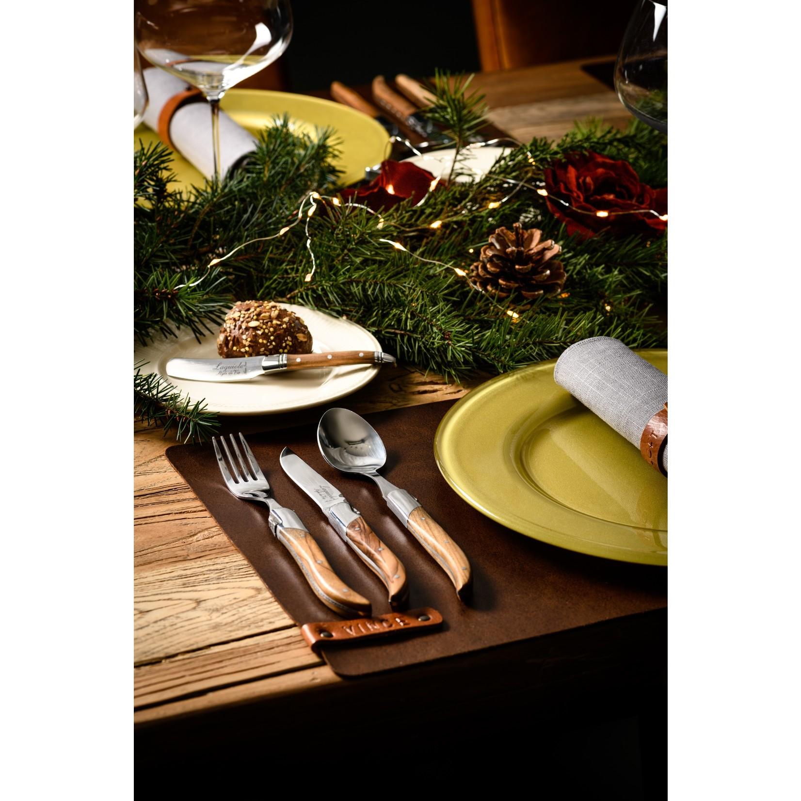 Laguiole Style de Vie Laguiole Style de Vie Luxury Line bestekset 16-delig olijfhout