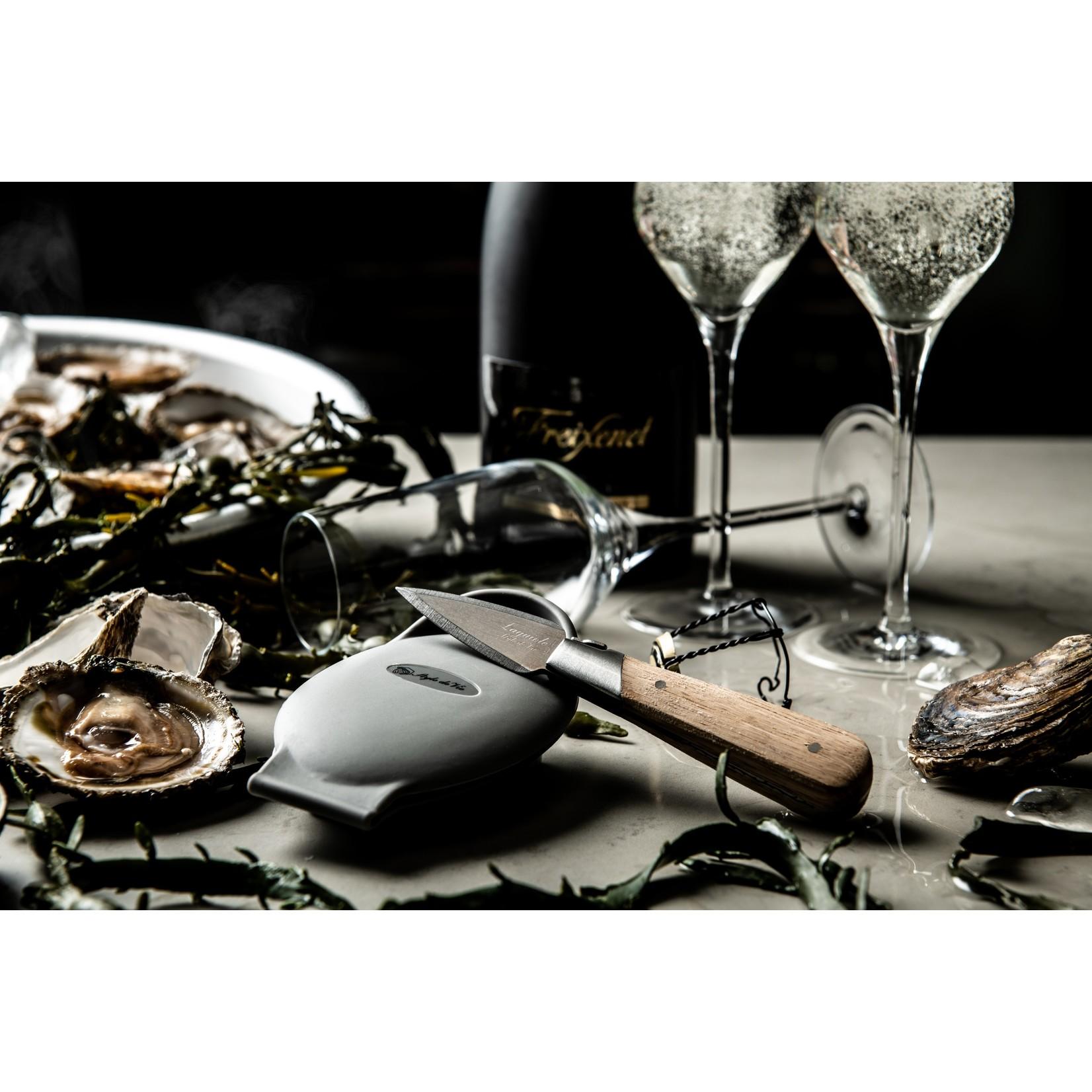 Laguiole Style de Vie Laguiole Style de Vie oestermes met siliconen handbeschermer