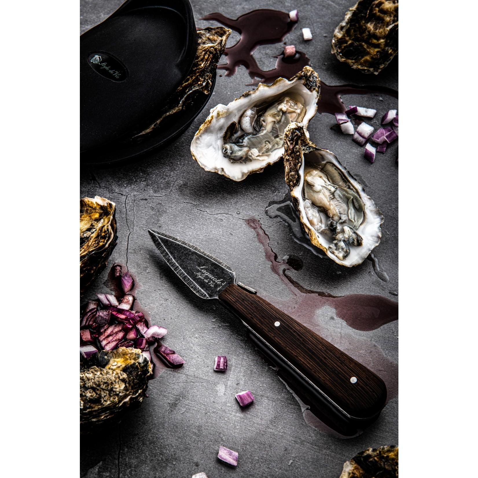 Laguiole Style de Vie Laguiole Style de Vie Luxury Line oestermes met silicone handbeschermer
