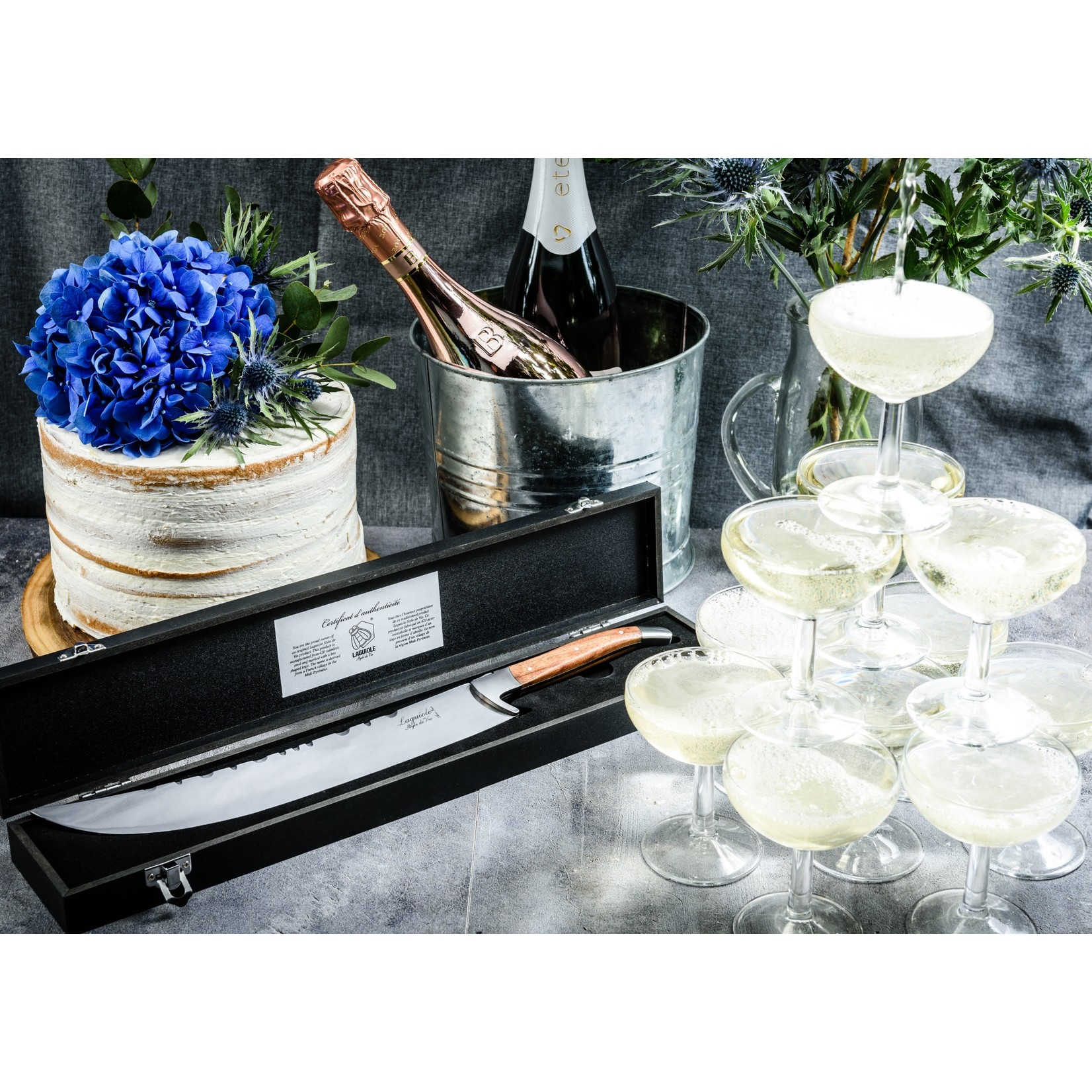 Laguiole Style de Vie Laguiole Style de Vie Luxury Line champagnezwaard rozenhout