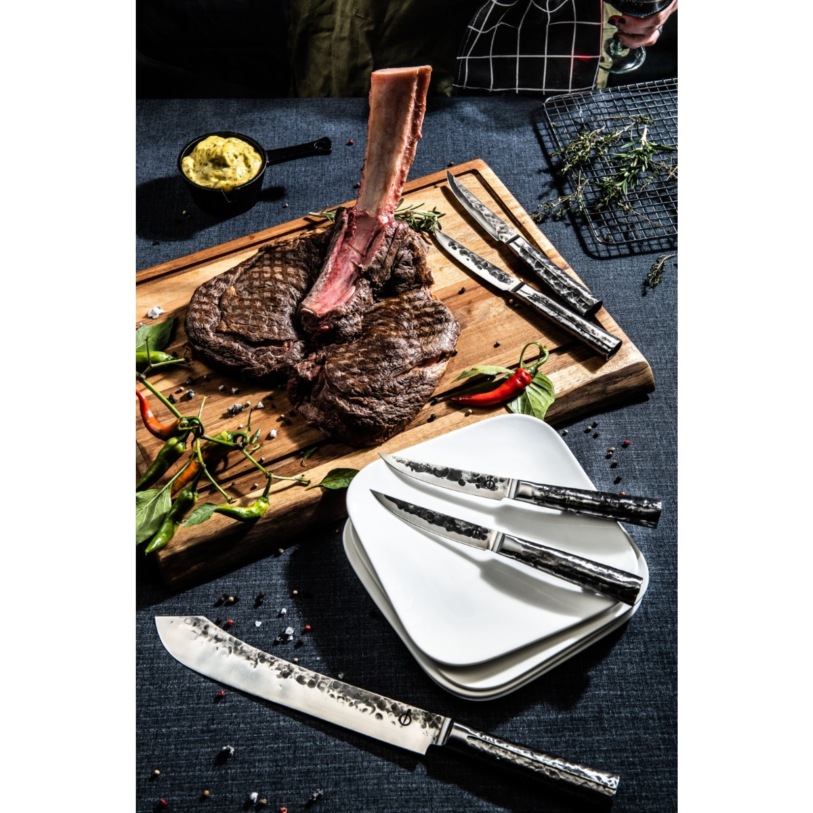 Forged Forged Intense steakmessenset 4-delig