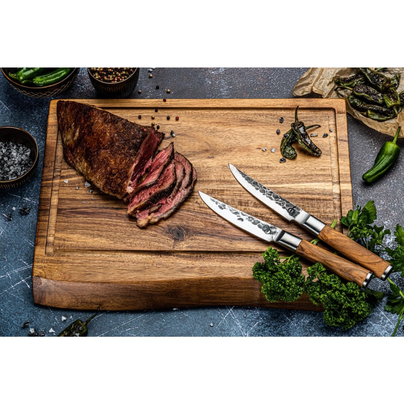 Forged Forged Olive steakmessenset 4-delig