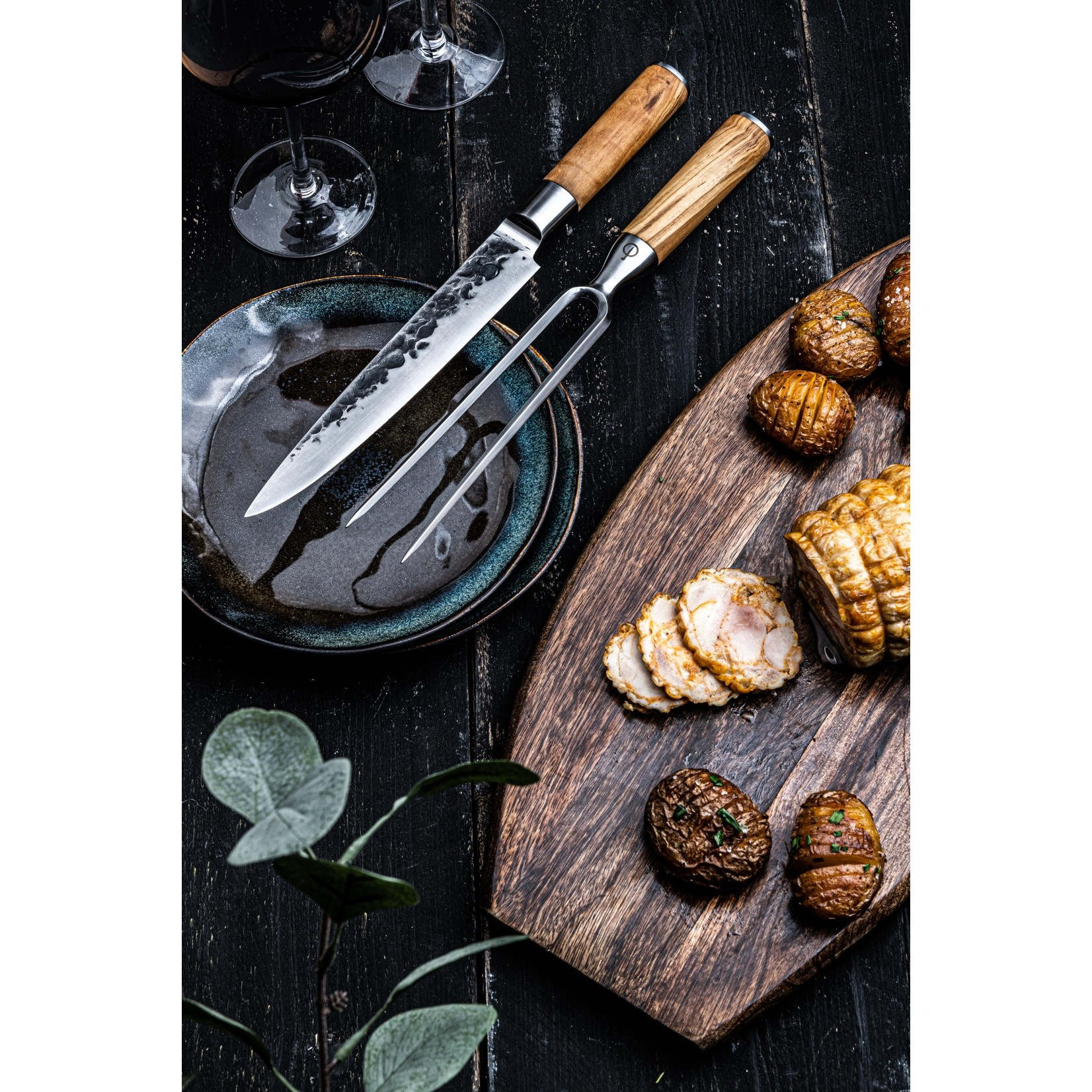 Forged Forged Olive vleesvork 20cm