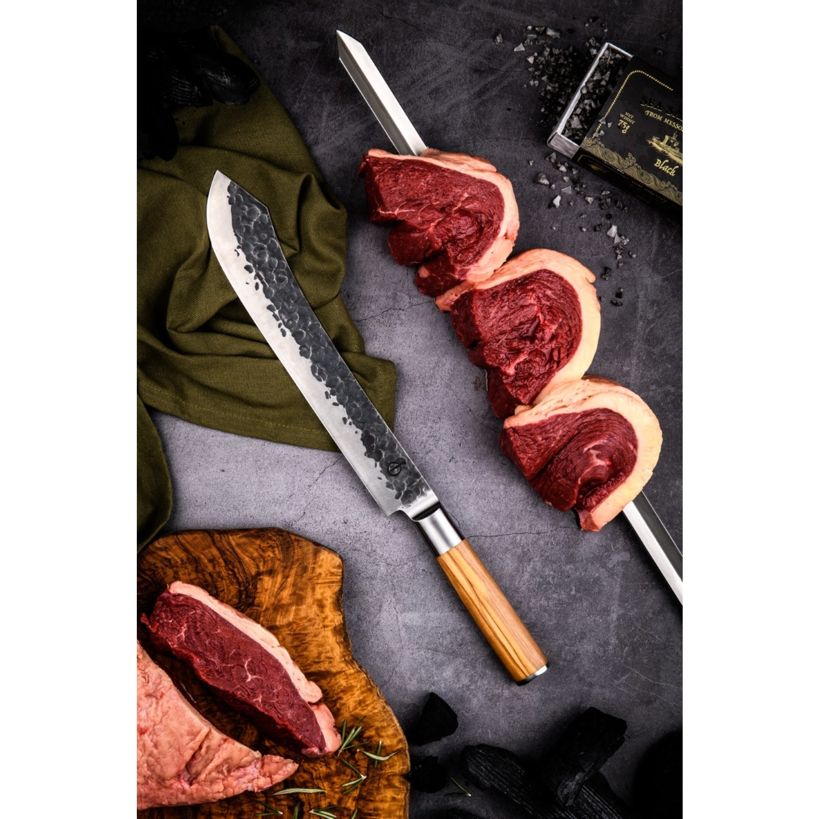 Forged Forged Churrasco spies v-vorm 50cm