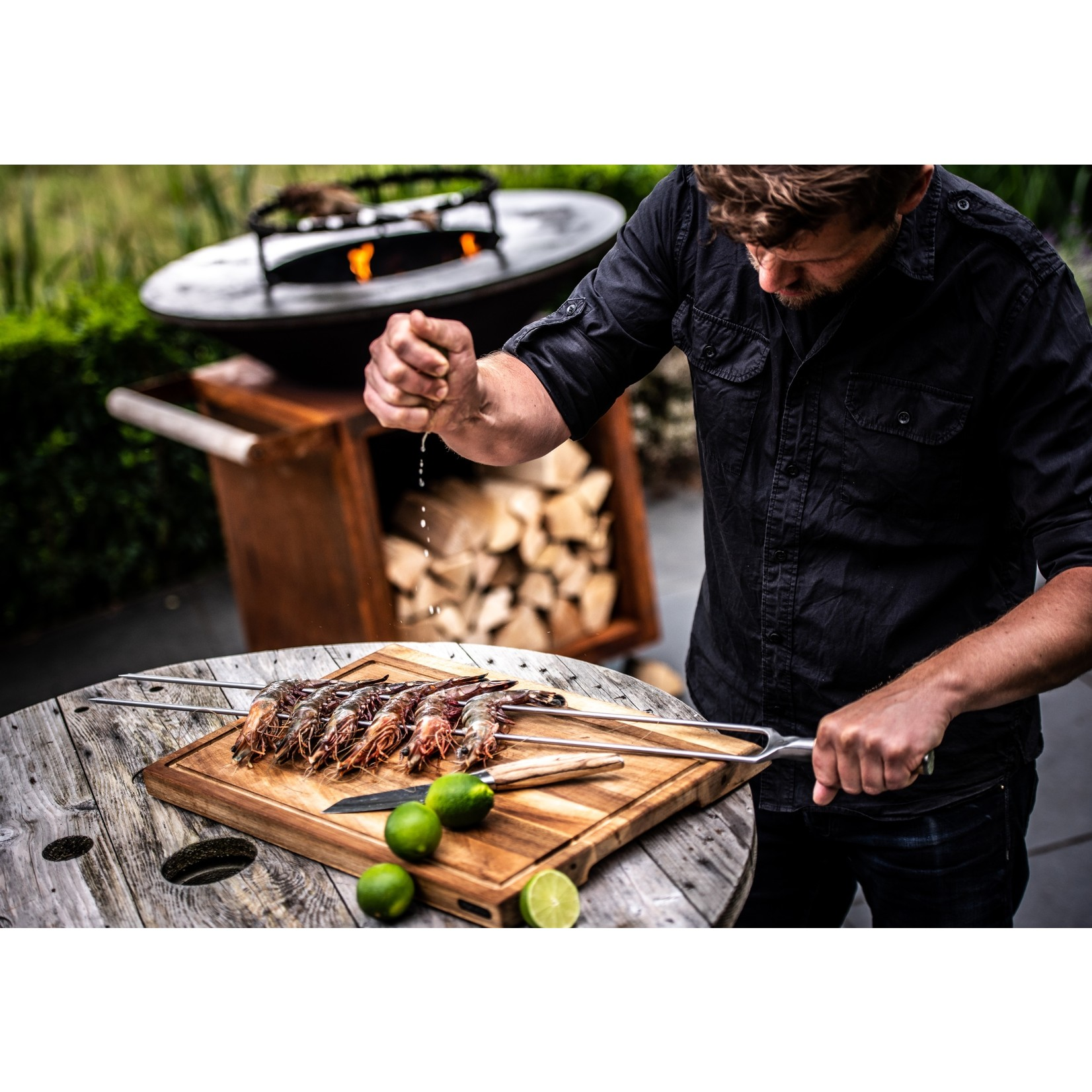 Forged Forged Churrasco spies 70cm