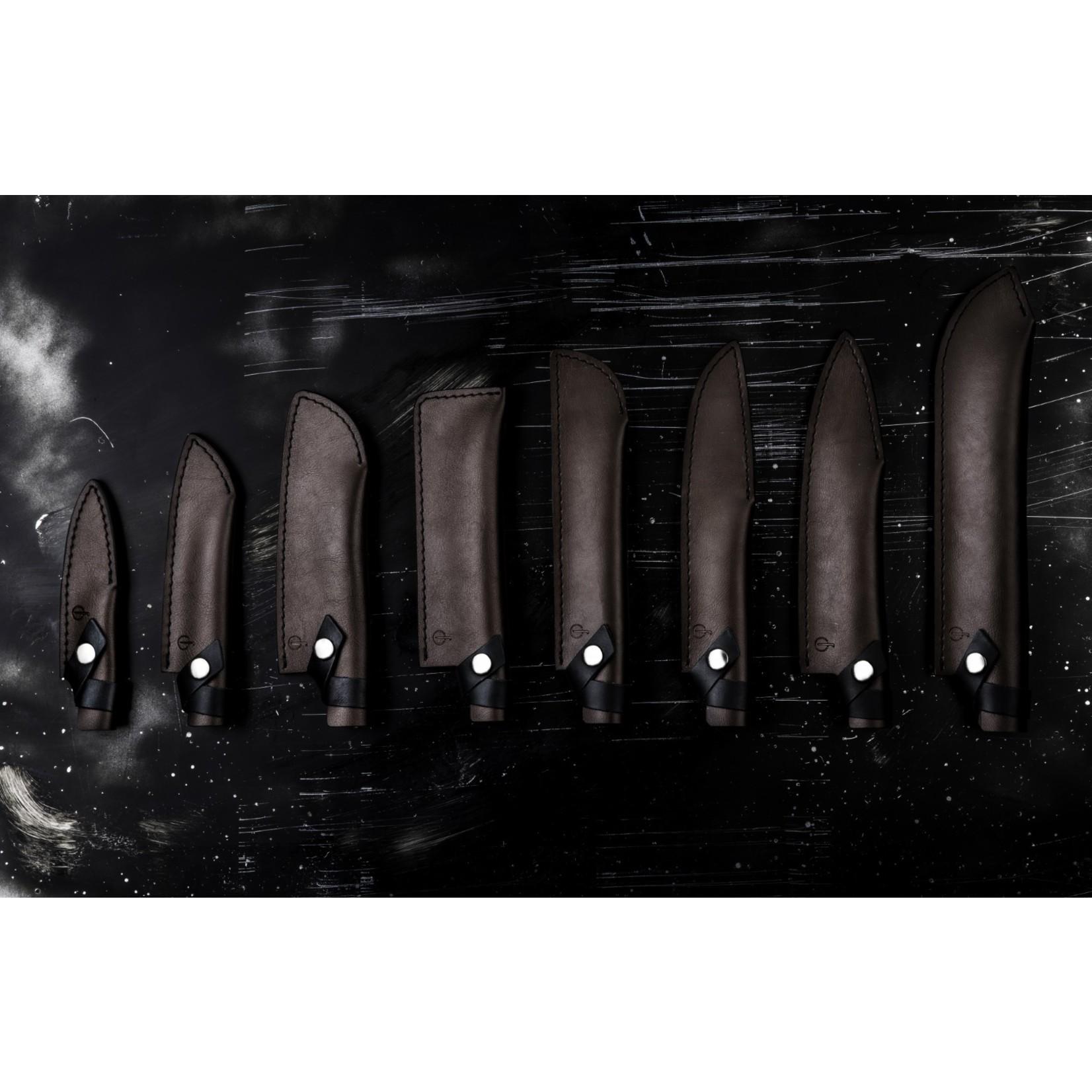 Forged Forged lederen hoes voor santokumes 14cm