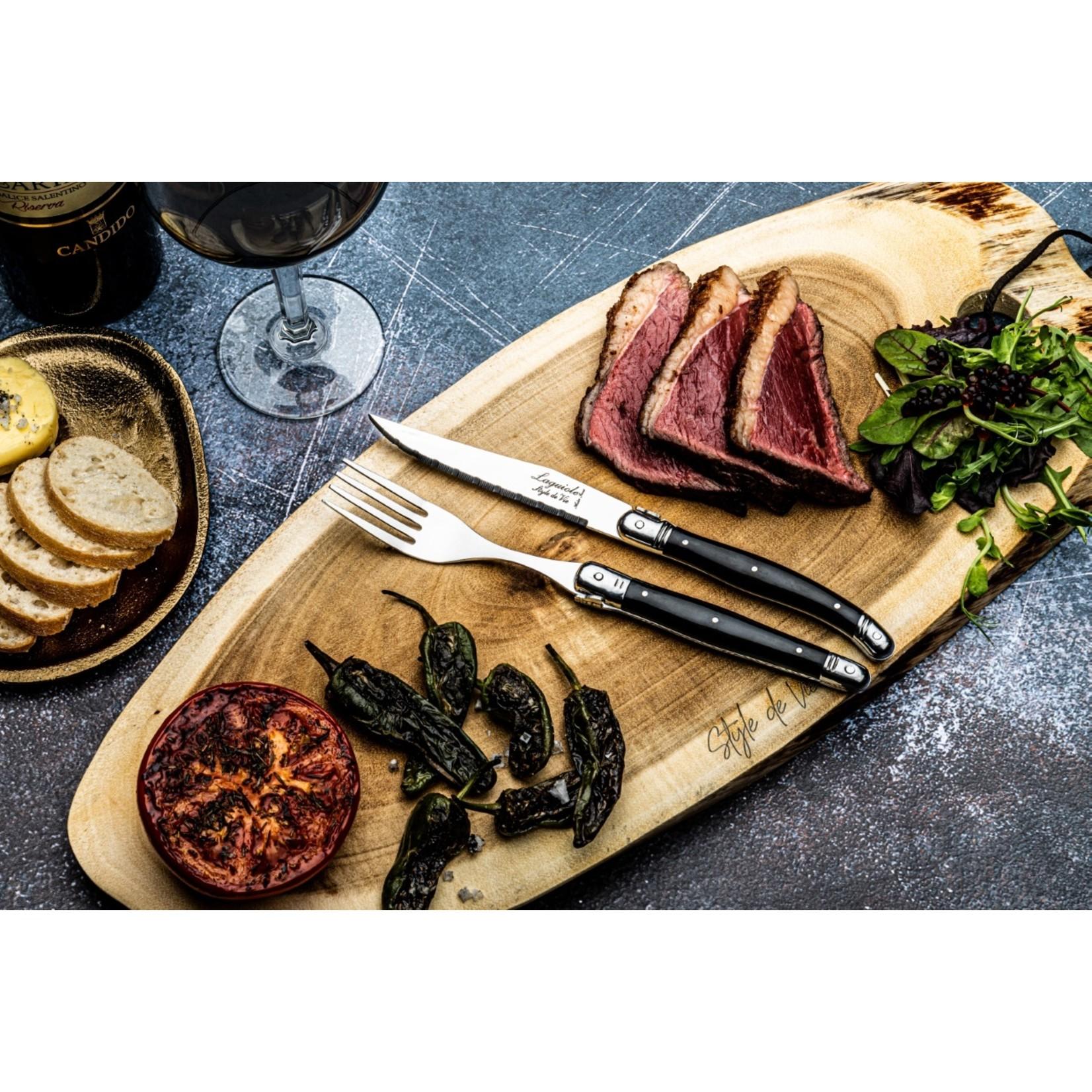 Laguiole Style de Vie Laguiole Style de Vie Premium Line vorken 6-delig, zwart