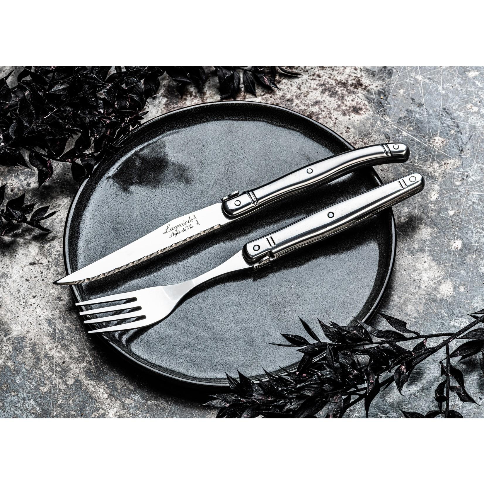 Laguiole Style de Vie Laguiole Style de Vie Premium Line vorken 6-delig, rvs