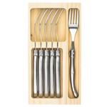 Laguiole Style de Vie Laguiole Style de Vie Premium Line vorken (set van 6) rvs