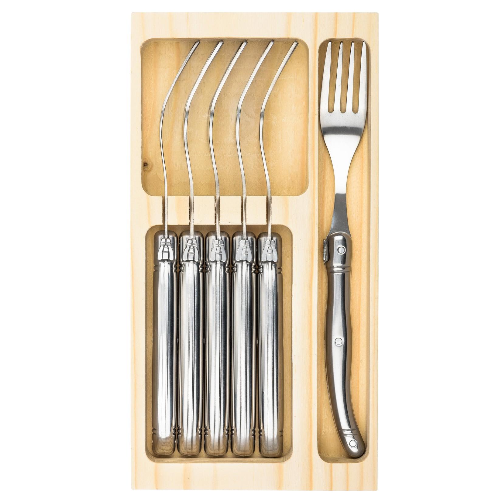 Laguiole Style de Vie Laguiole Style de Vie Premium Line vorken 6-delig rvs
