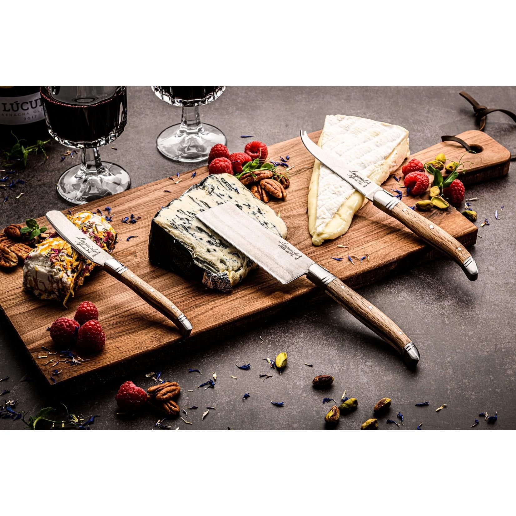Laguiole Style de Vie Laguiole Style de Vie Luxury Line kaasmessenset 3-delig, eikenhout