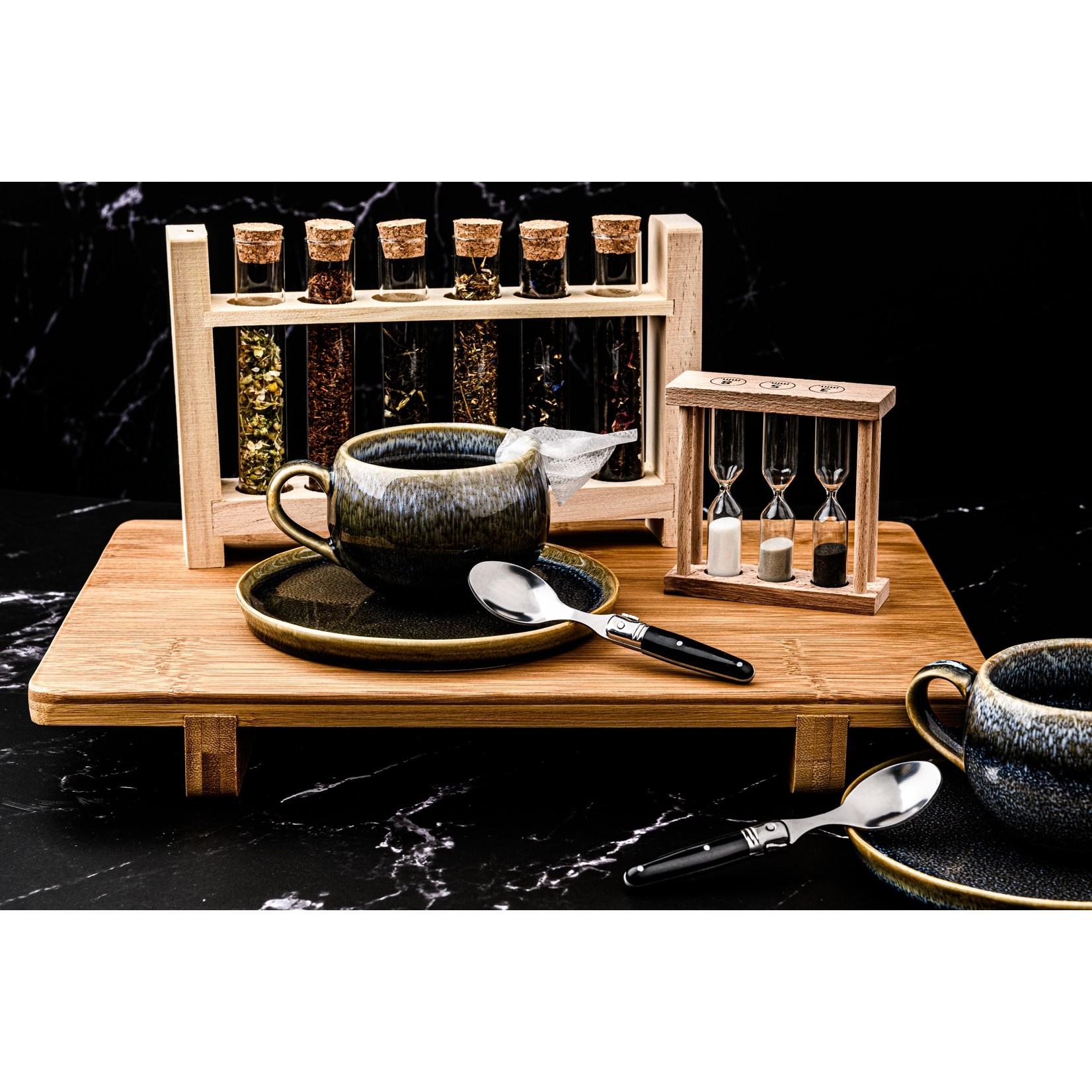 Laguiole Style de Vie Laguiole Style de Vie Premium Line koffielepels 6-delig, zwart