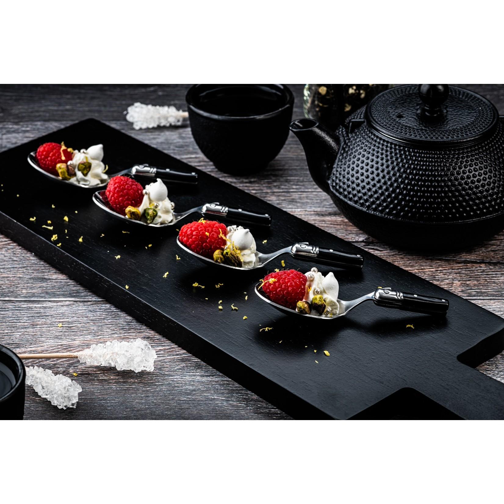 Laguiole Style de Vie Laguiole Style de Vie Premium Line amuselepels 6-delig, zwart
