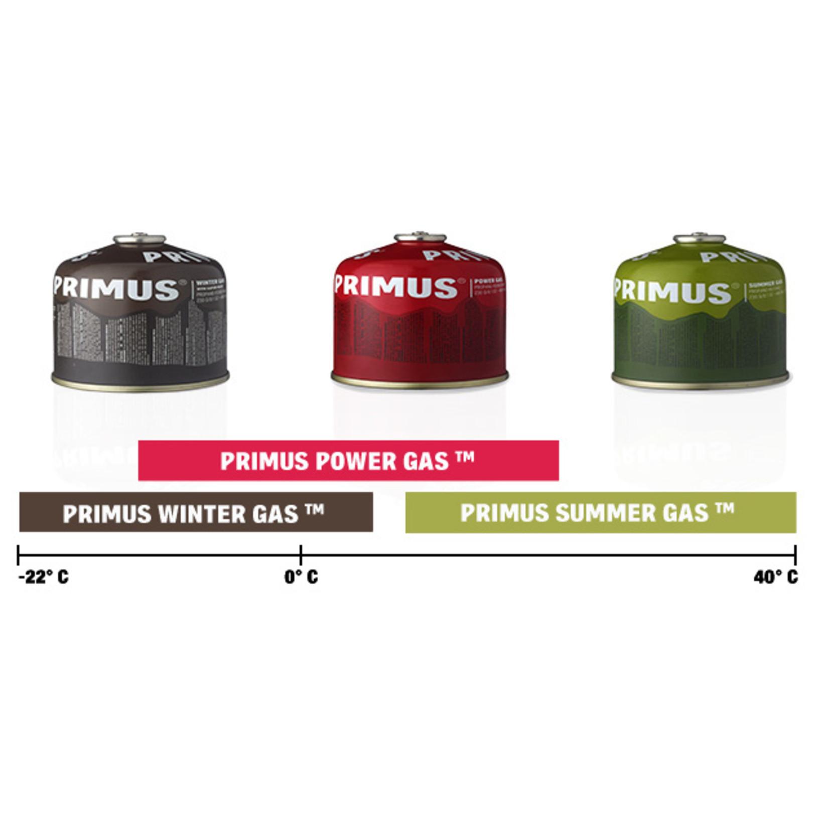 Primus Primus Summer gas 450 gram, perfect bij temperaturen boven de 15 graden Celsius