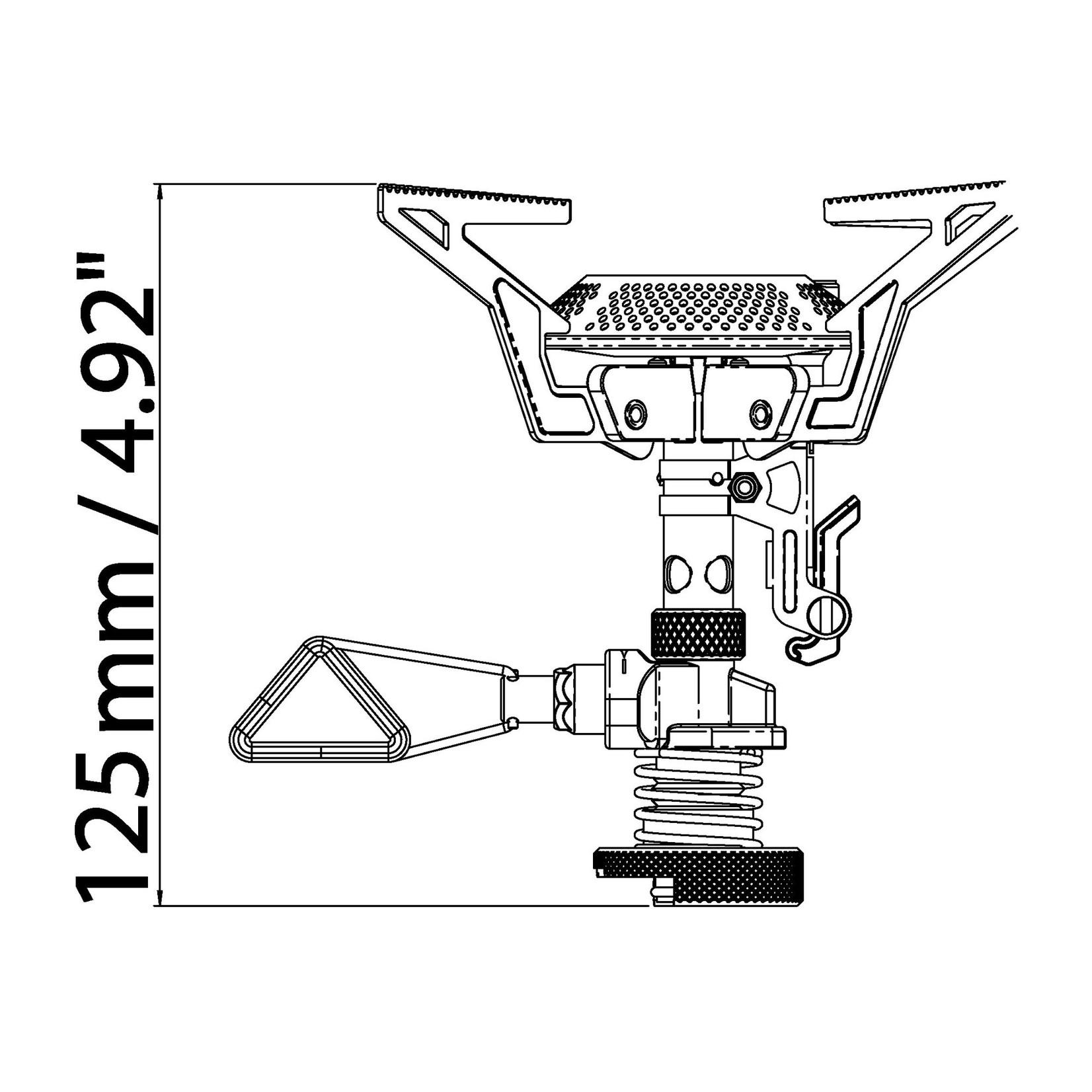 Primus Primus PowerTrail outdoorbrander piezo regulator duo, compact