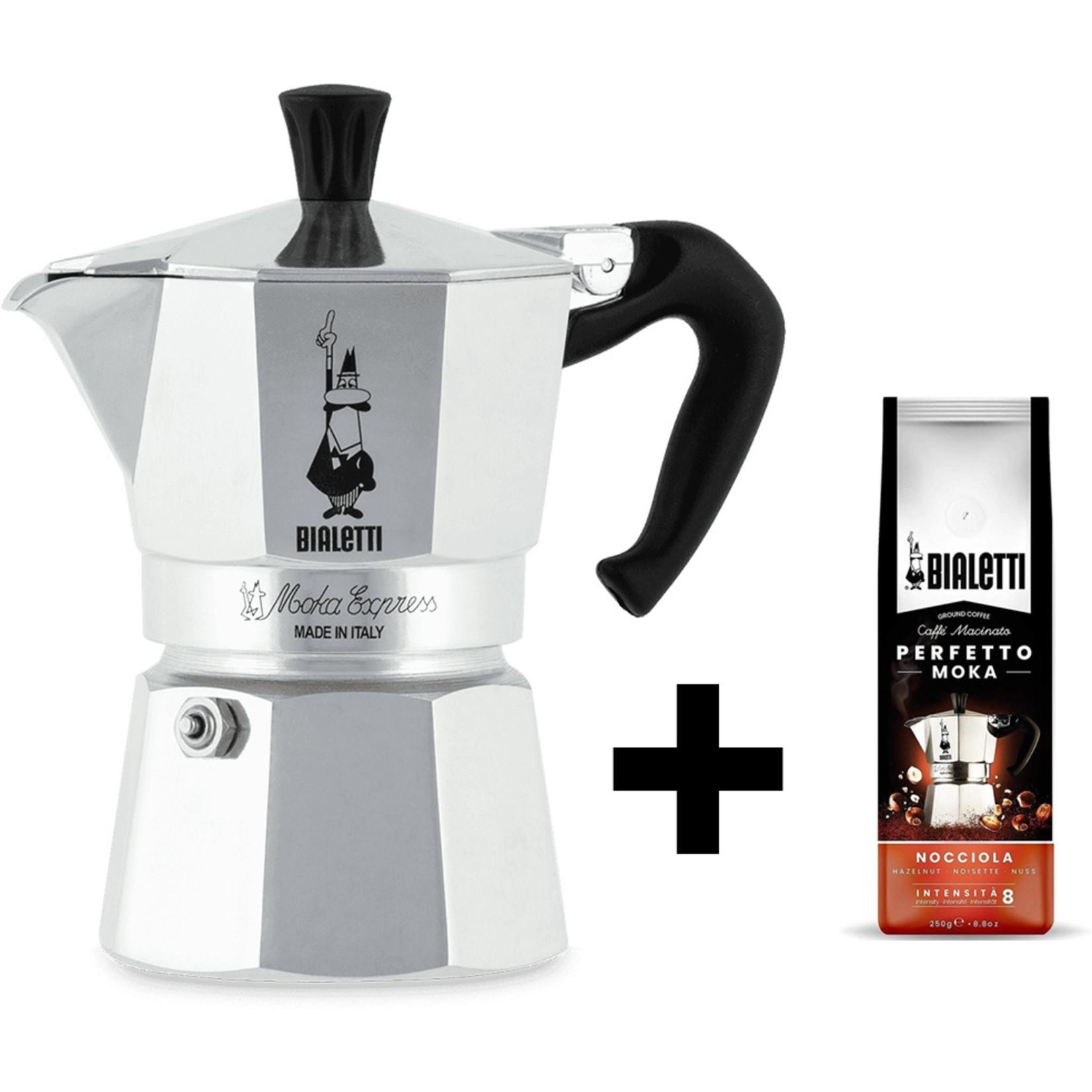 Bialetti Bialetti Moka Express 3 kops percolator, met gratis koffie
