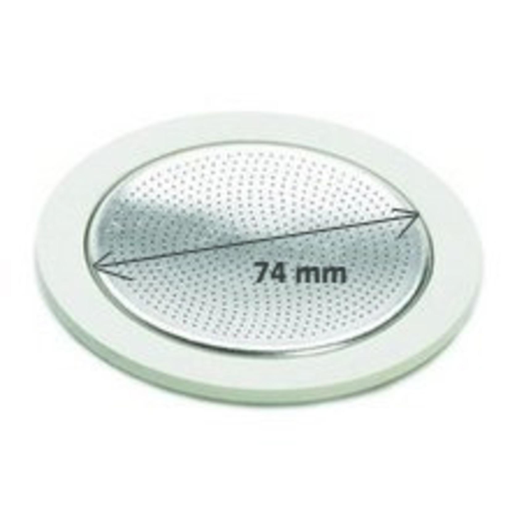 Bialetti Bialetti filterplaatje met rubberen ringen 12 kops aluminium