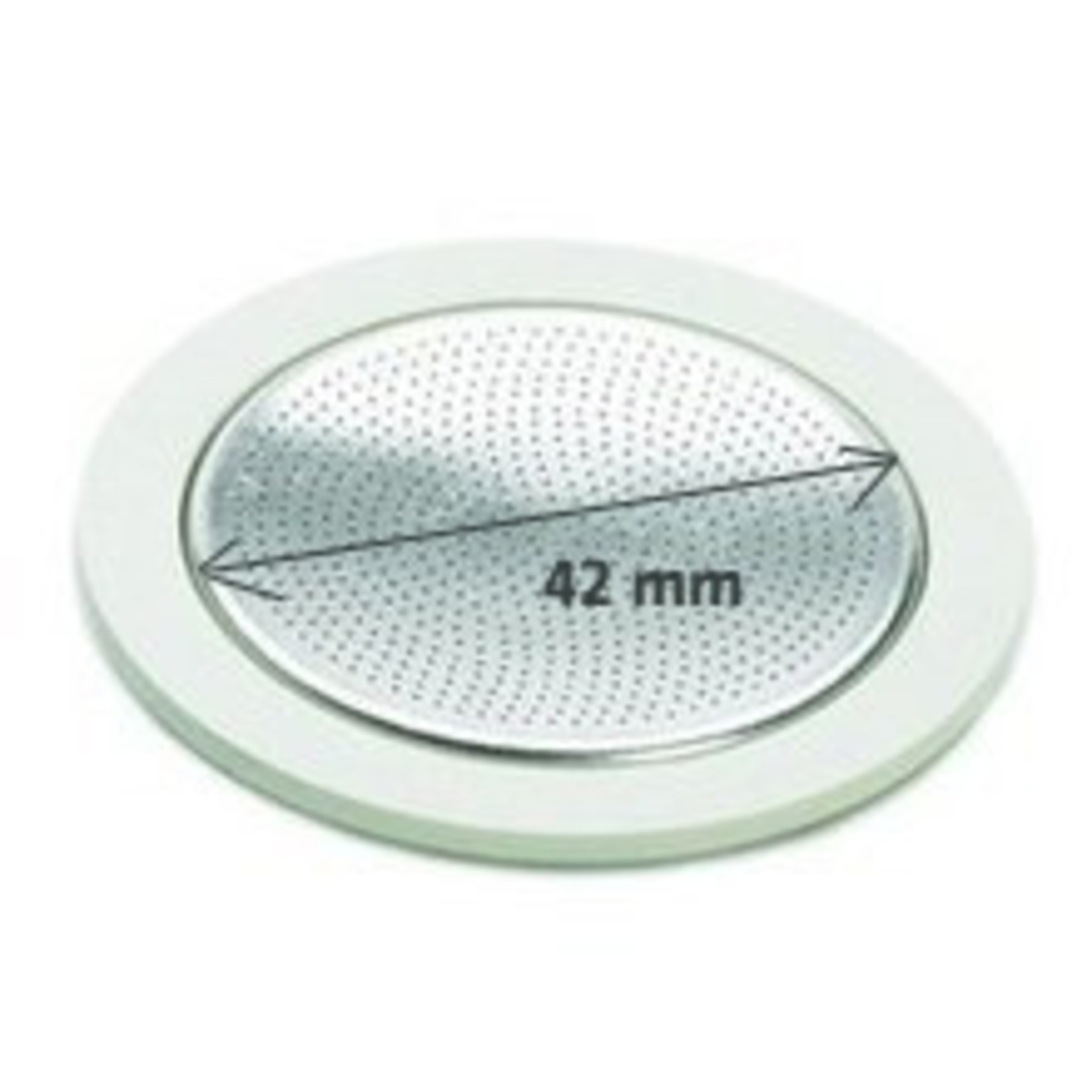 Bialetti Bialetti filterplaatje met rubberen ringen 2 kops RVS