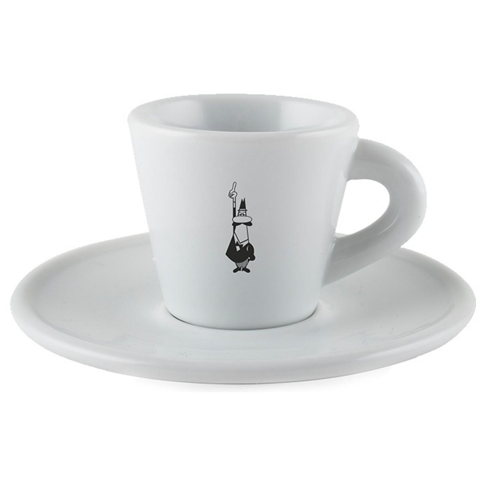 Bialetti Bialetti espressokopje met schotel porselein