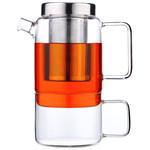 Bredemeijer Salerno theepot 0,75 liter met filter en glas
