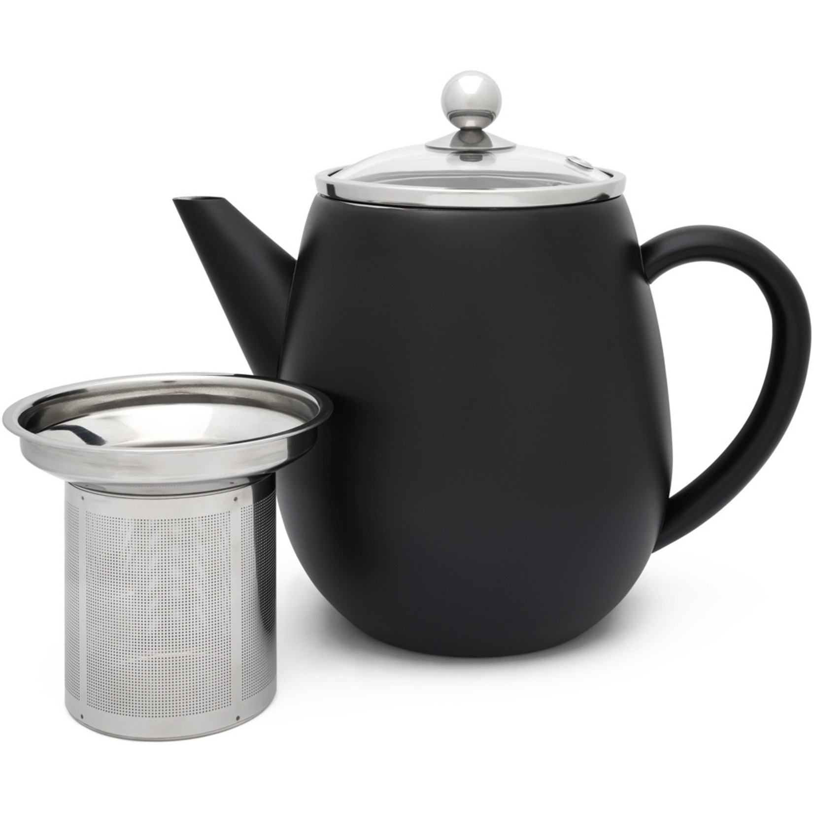 Bredemeijer Bredemeijer Duet Eva theepot 1,1 liter, zwart