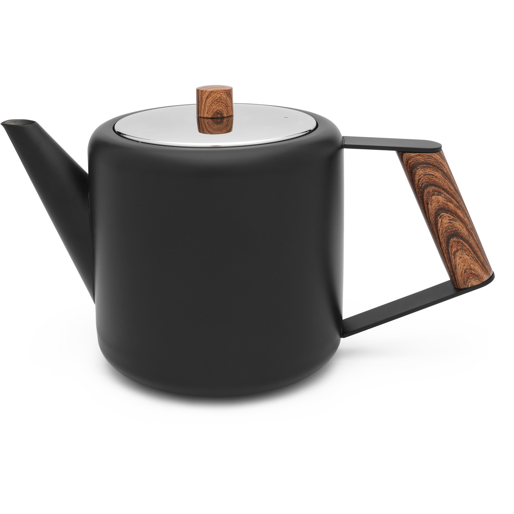 Bredemeijer Bredemeijer Duet Design Theepot Boston, mat zwart, hout 1,1L