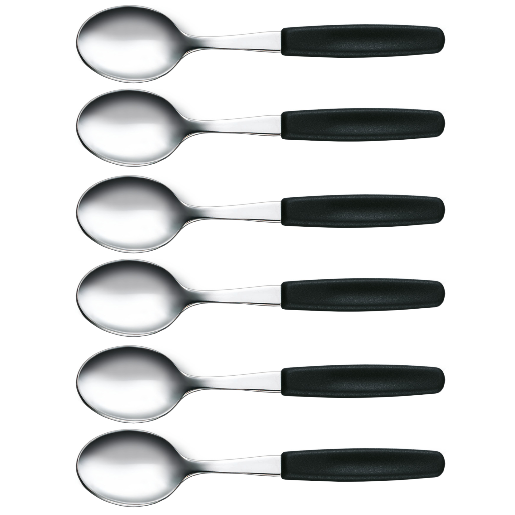 Victorinox Victorinox dessertlepels set van 6 zwart
