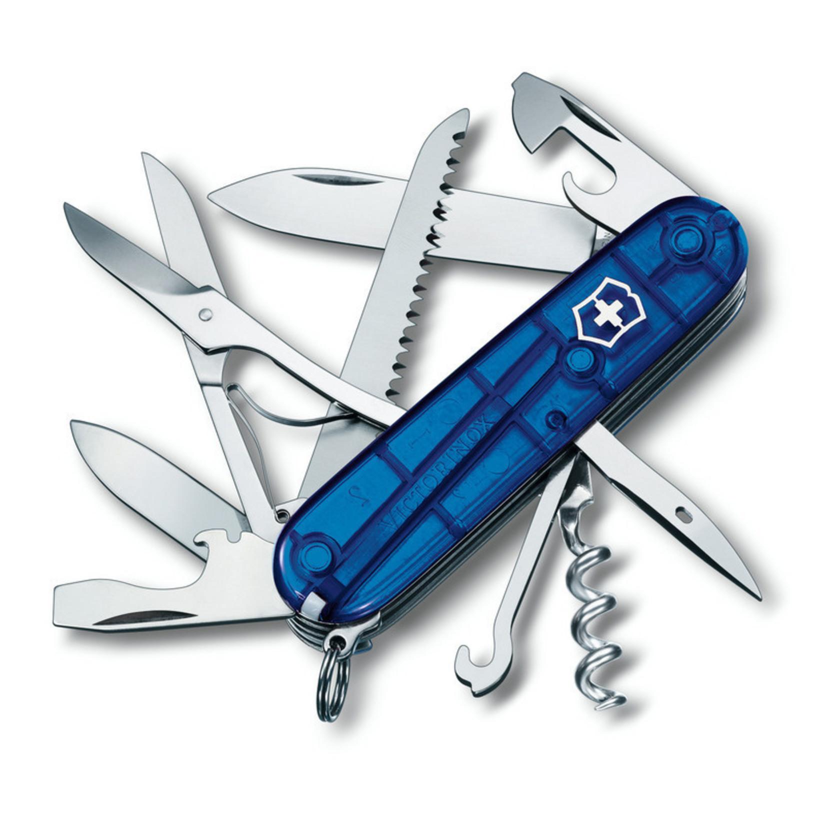Victorinox Victorinox Huntsman blauw transparant