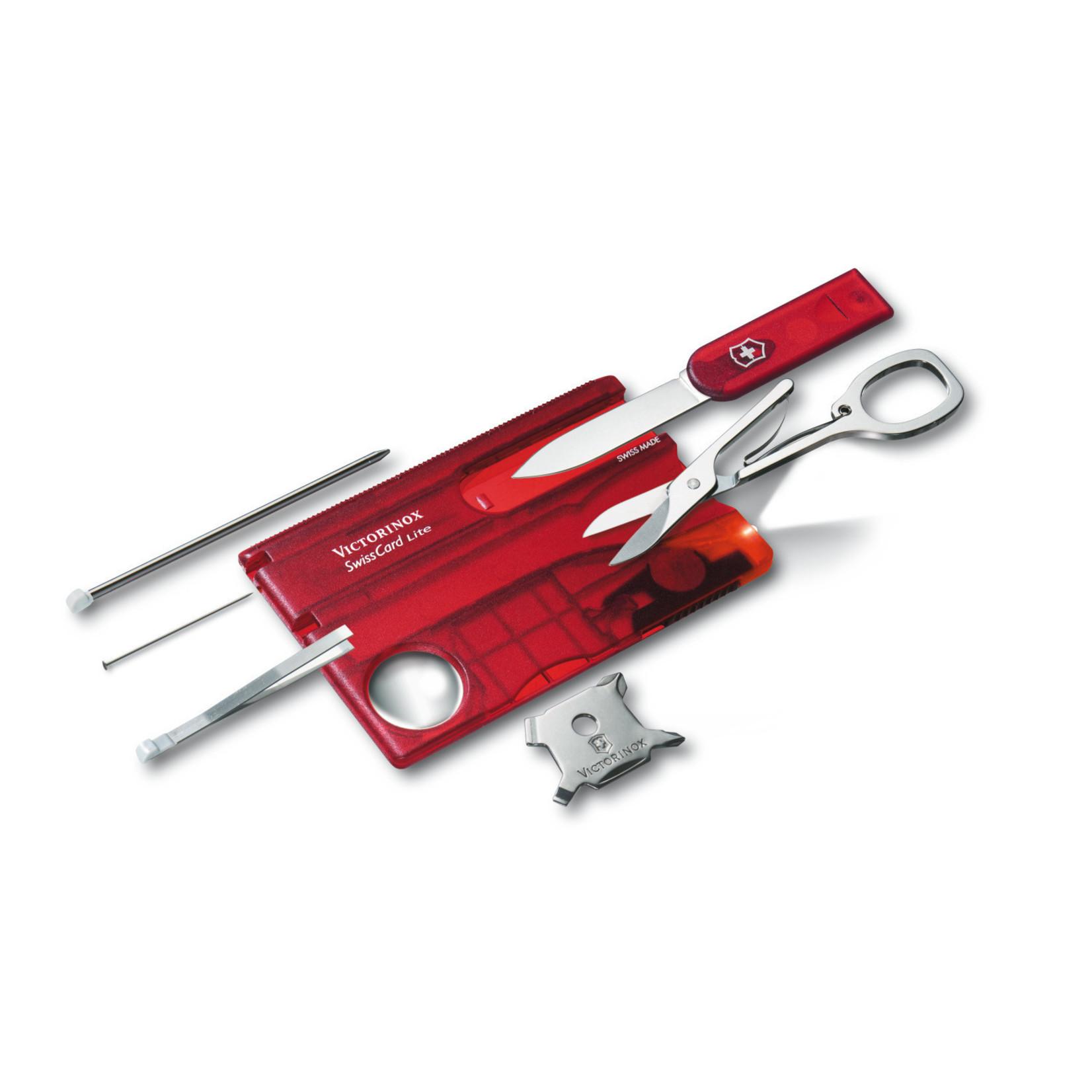 Victorinox Victorinox SwissCard Lite rood transparant