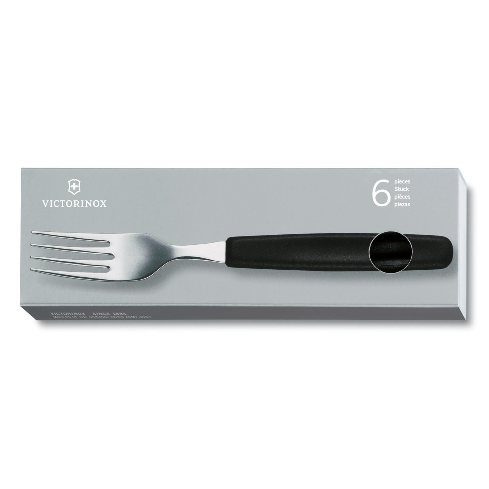 Victorinox Victorinox tafelbestek vork zwart (Set van 6)