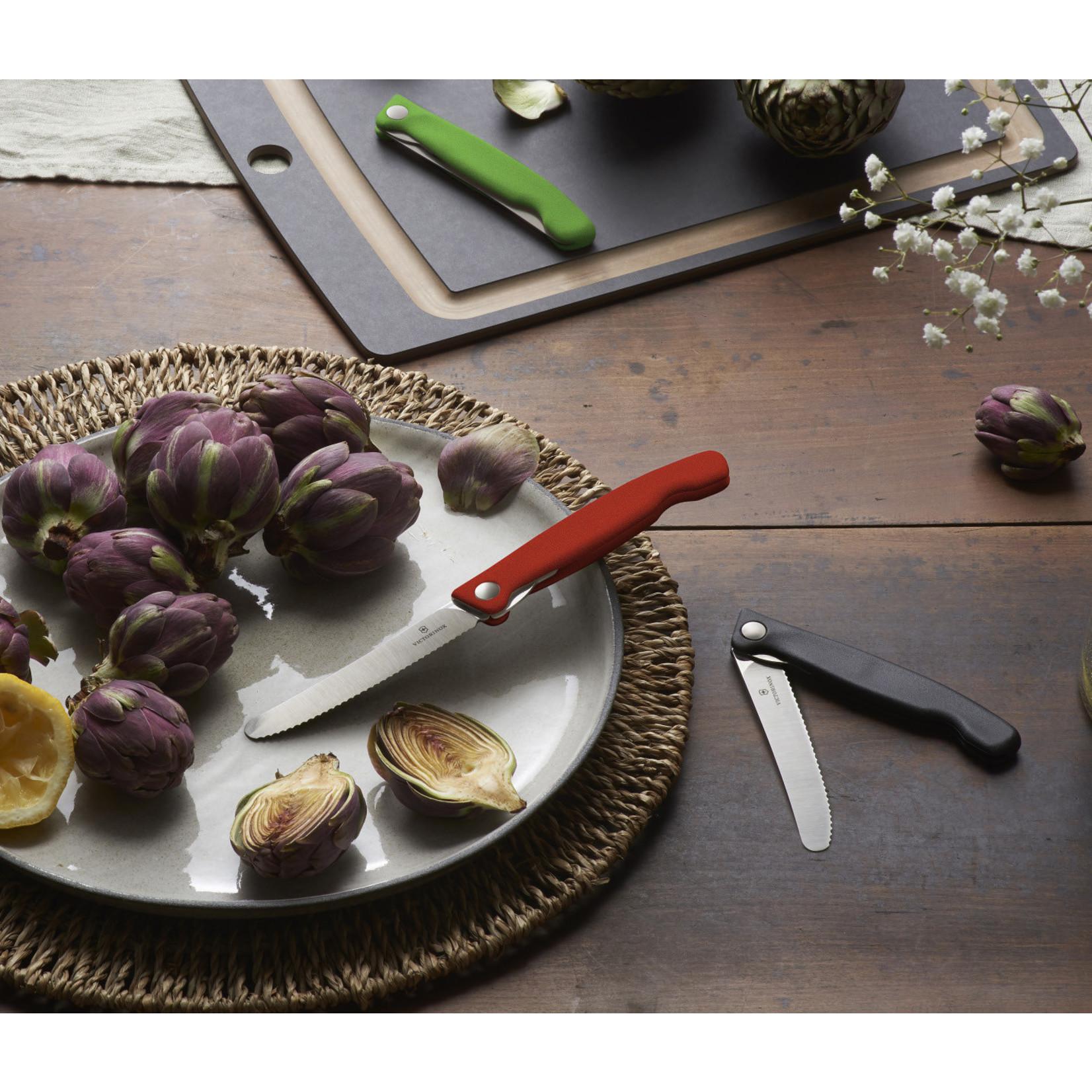 Victorinox Victorinox tafelmes inklapbaar, gladde snede, zwart