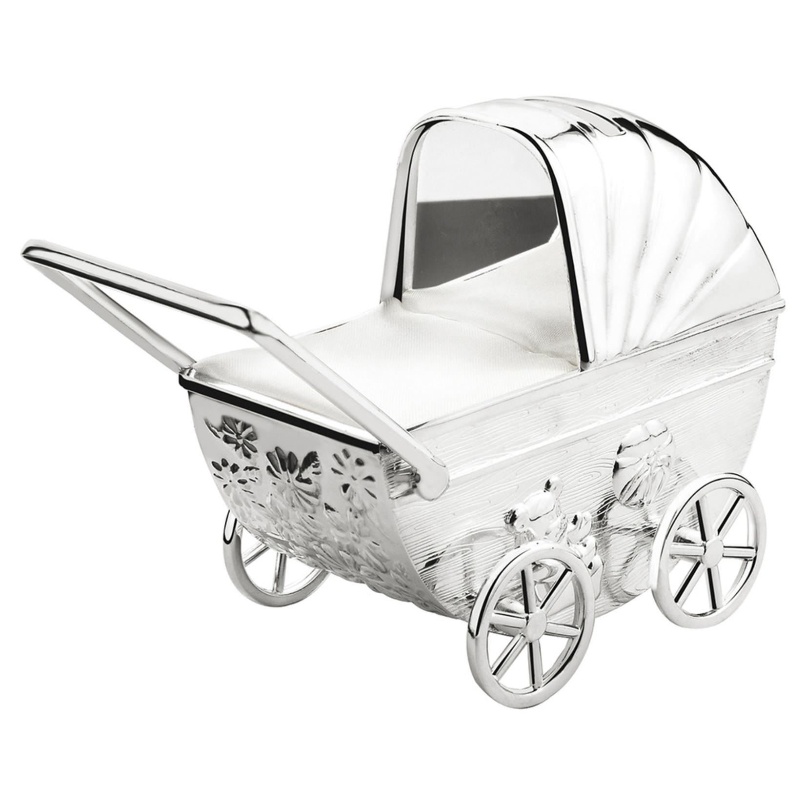 Zilverstad Zilverstad Spaarpot Kinderwagen met Graveerplaatje