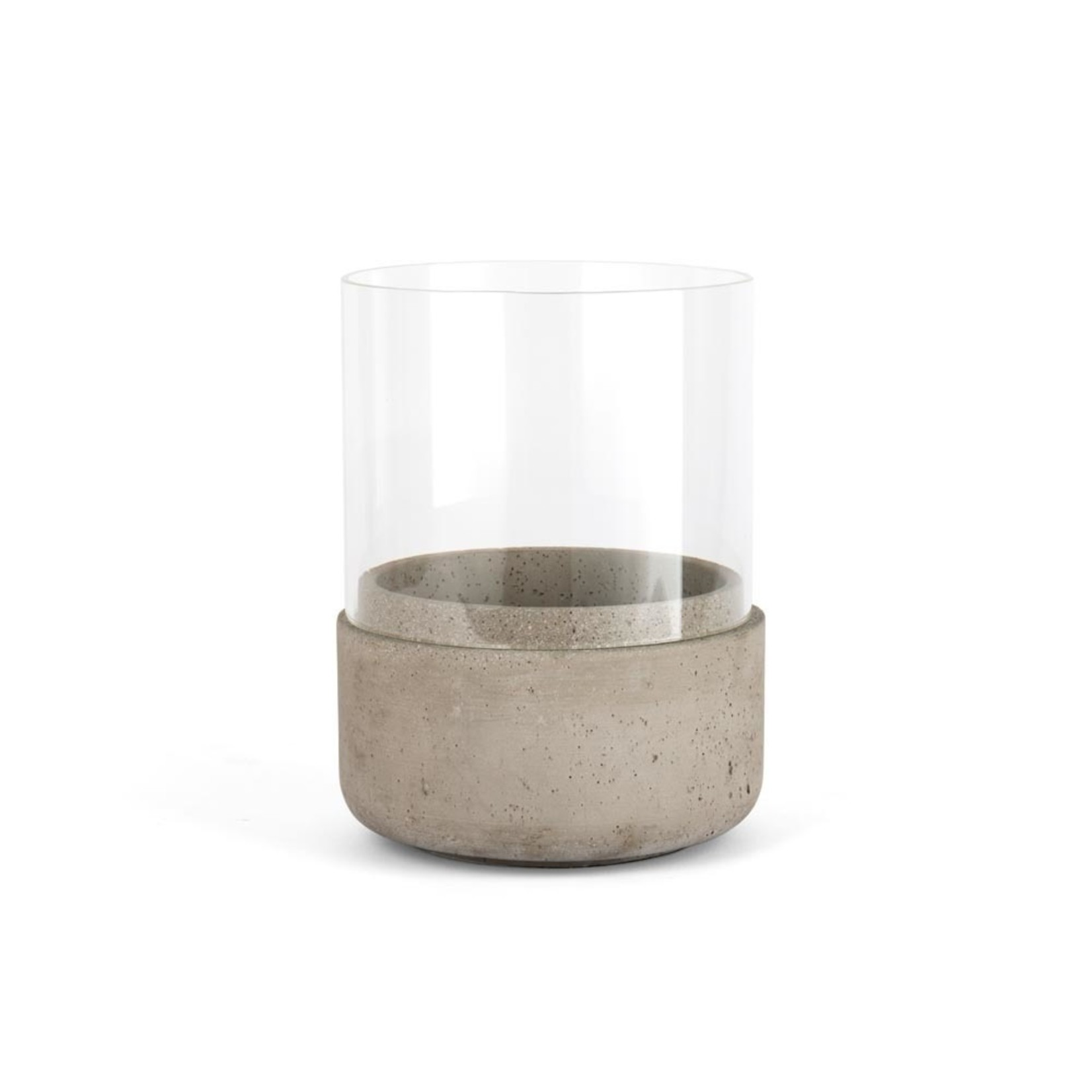 Zilverstad Zilverstad Windlicht Solido Groot Combinatie Van Cement En Glas