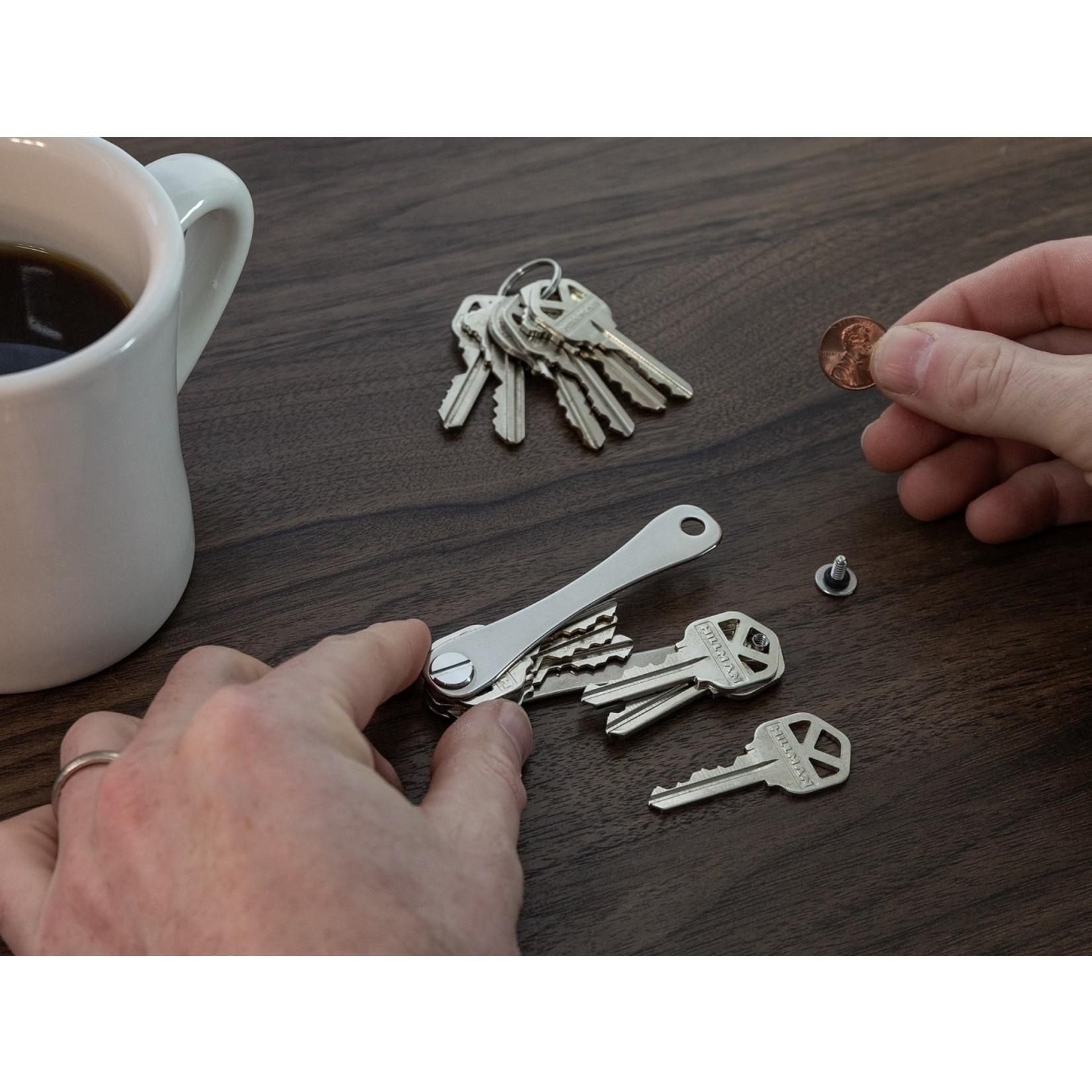 KeySmart KeySmart Compact sleutelhouder titanium