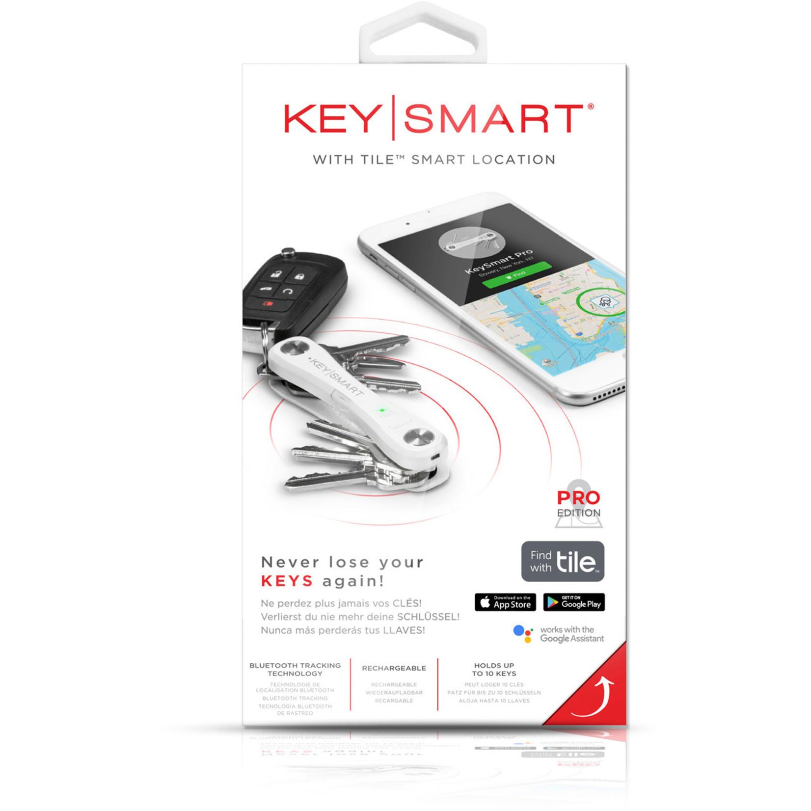 KeySmart KeySmart Pro sleutelhouder met Tile Smart wit