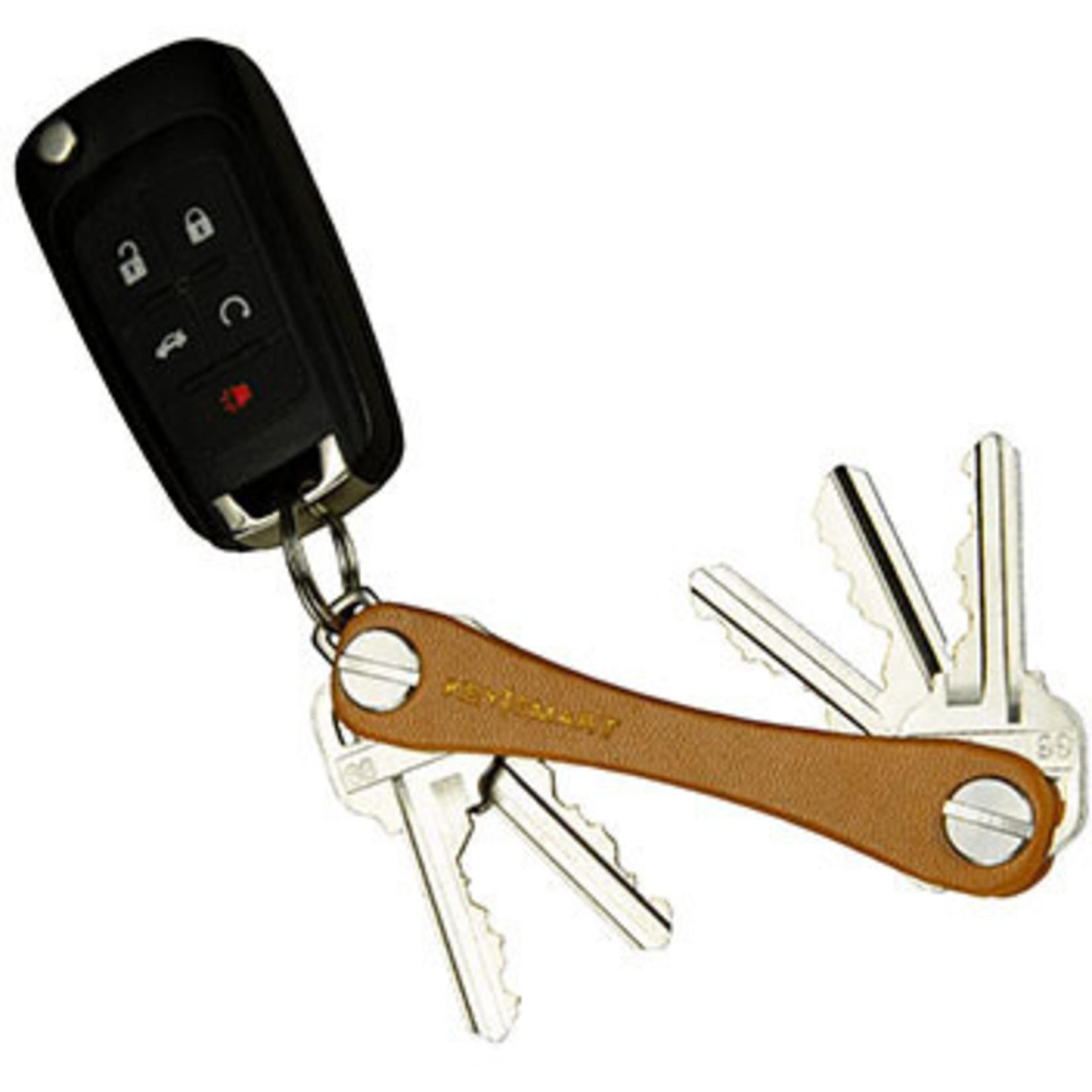 KeySmart KeySmart Compact Leather sleutelhouder bruin