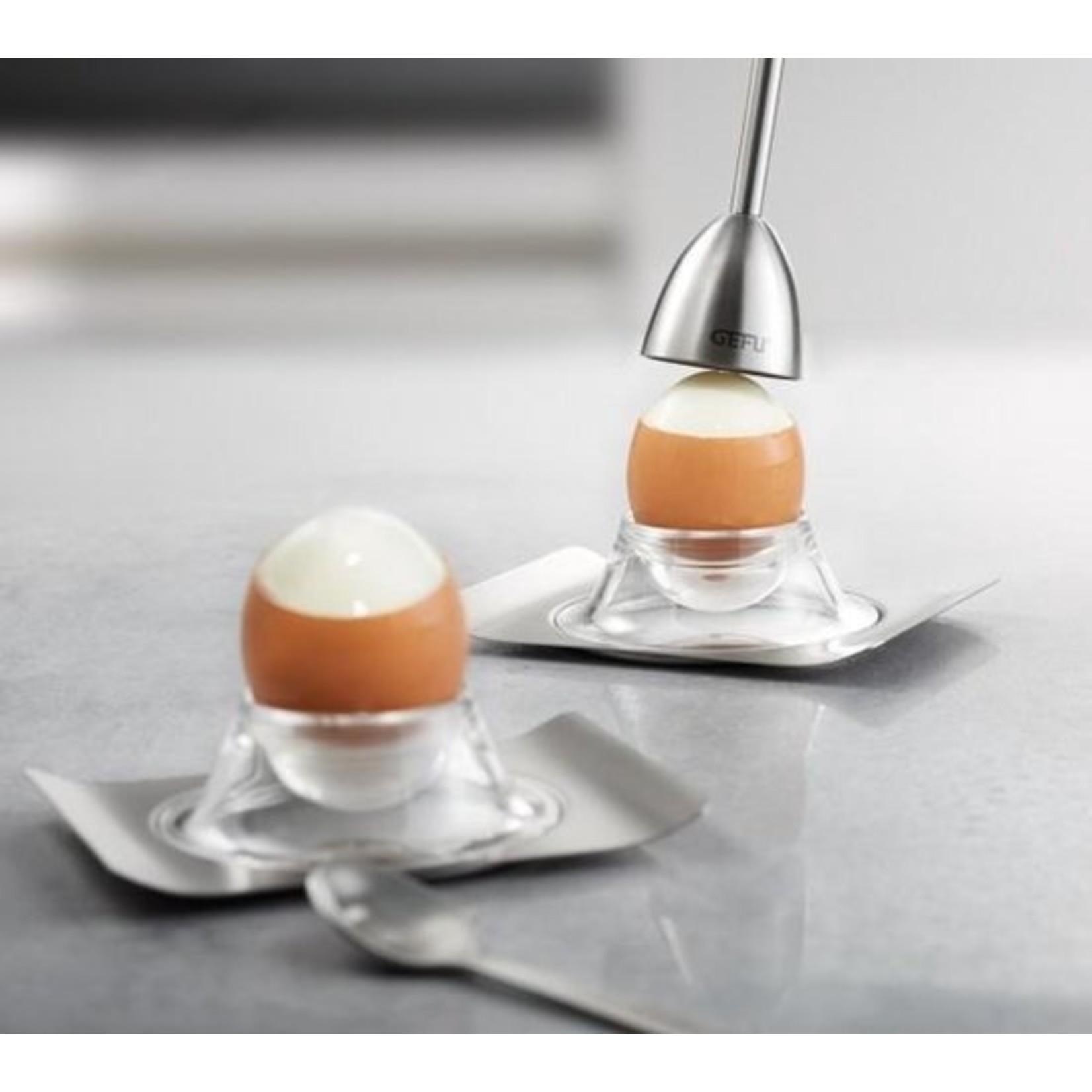 Gefu Gefu Ei eierschaalsnijder met zoutmolen RVS