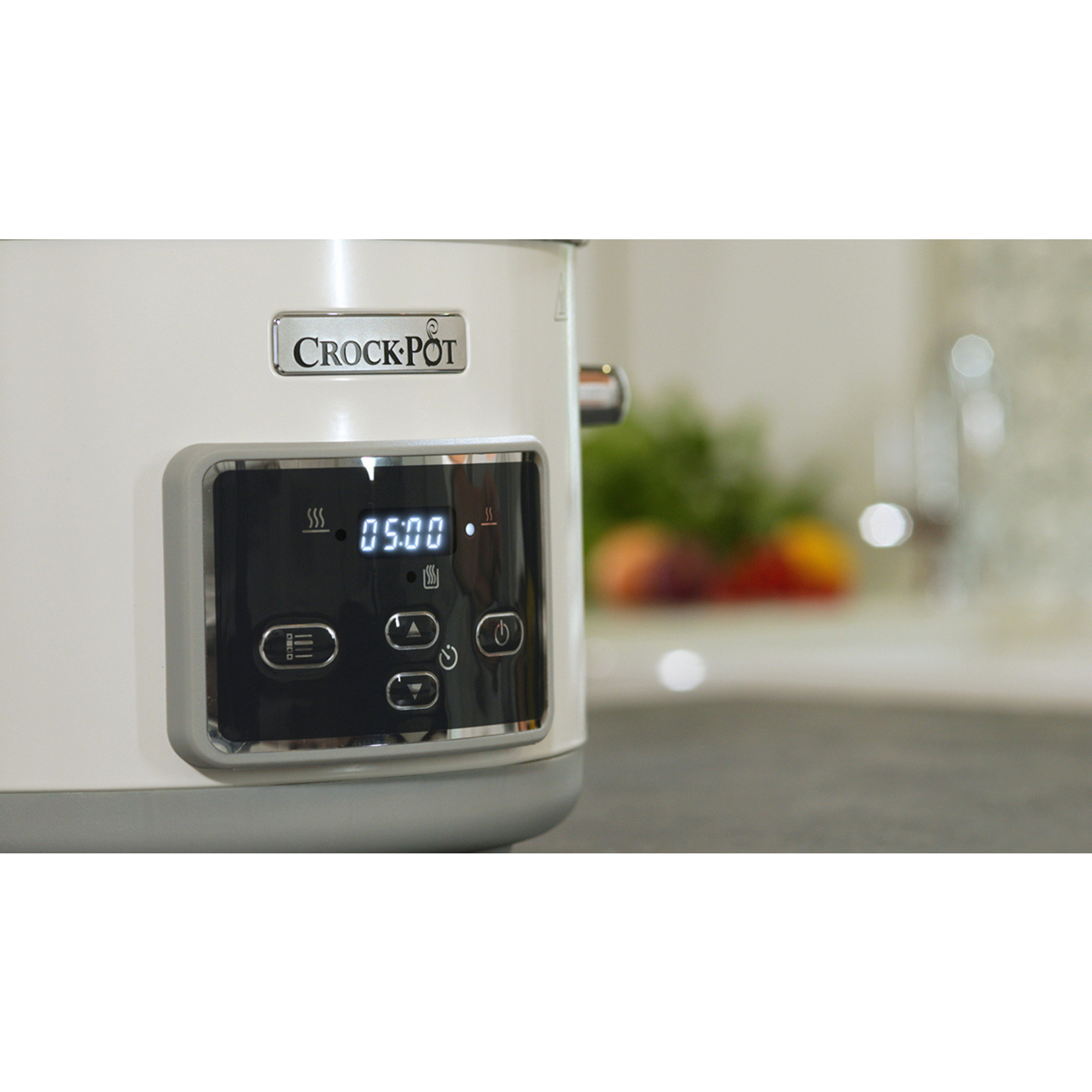 Crock-Pot Crock-Pot DuraCeramic slowcooker Saute 5L wit met klapdeksel