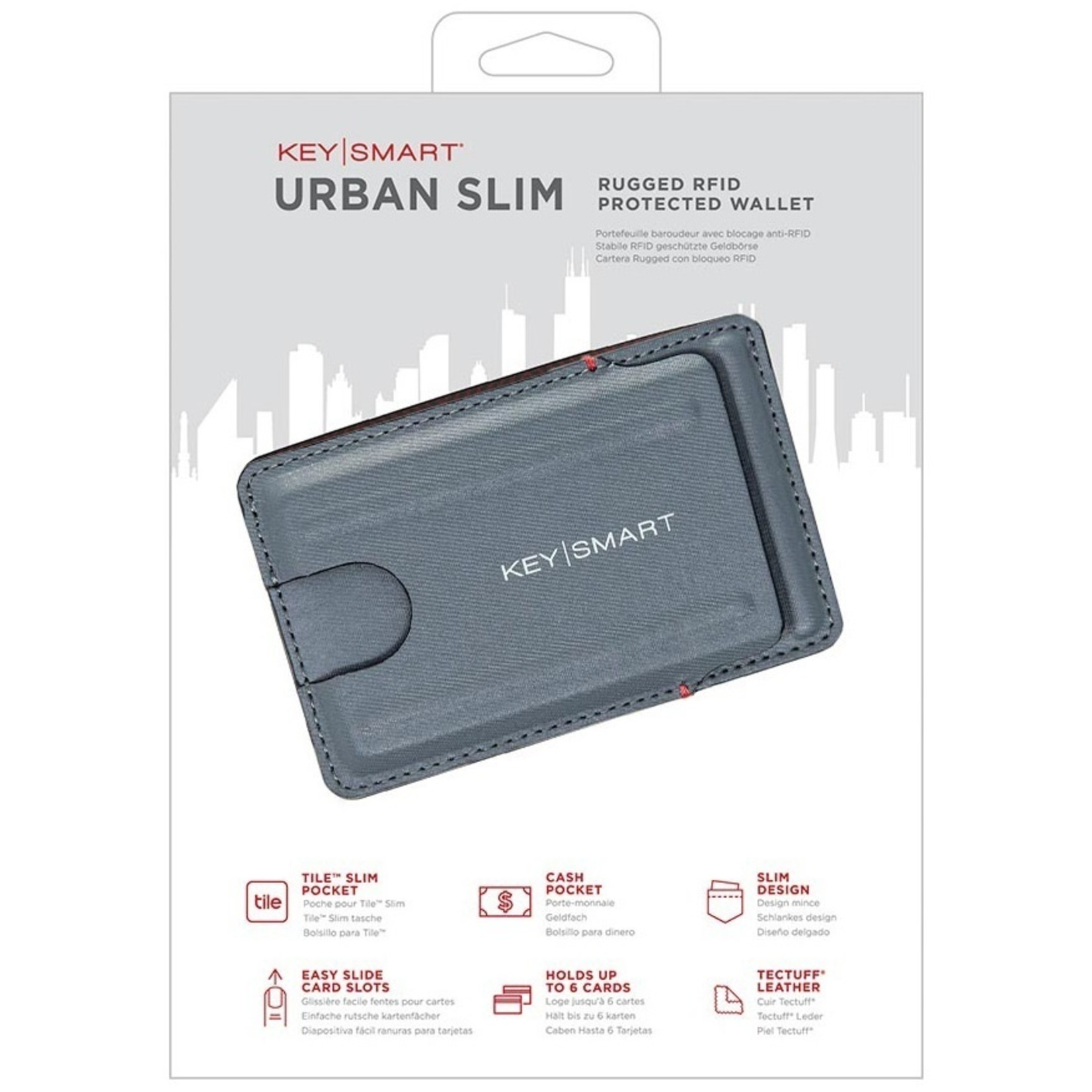 KeySmart KeySmart Urban Slim portemonnee grijs
