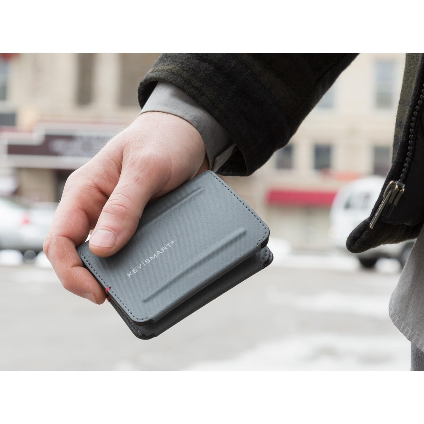 KeySmart KeySmart Urban Bi-Fold portemonnee grijs