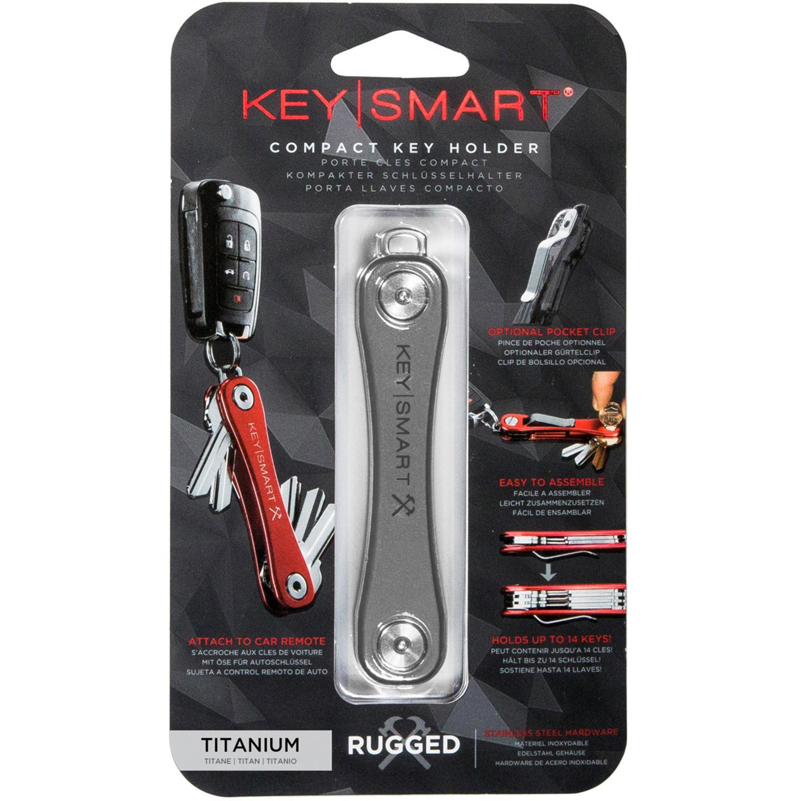 KeySmart KeySmart Rugged sleutelhouder titanium