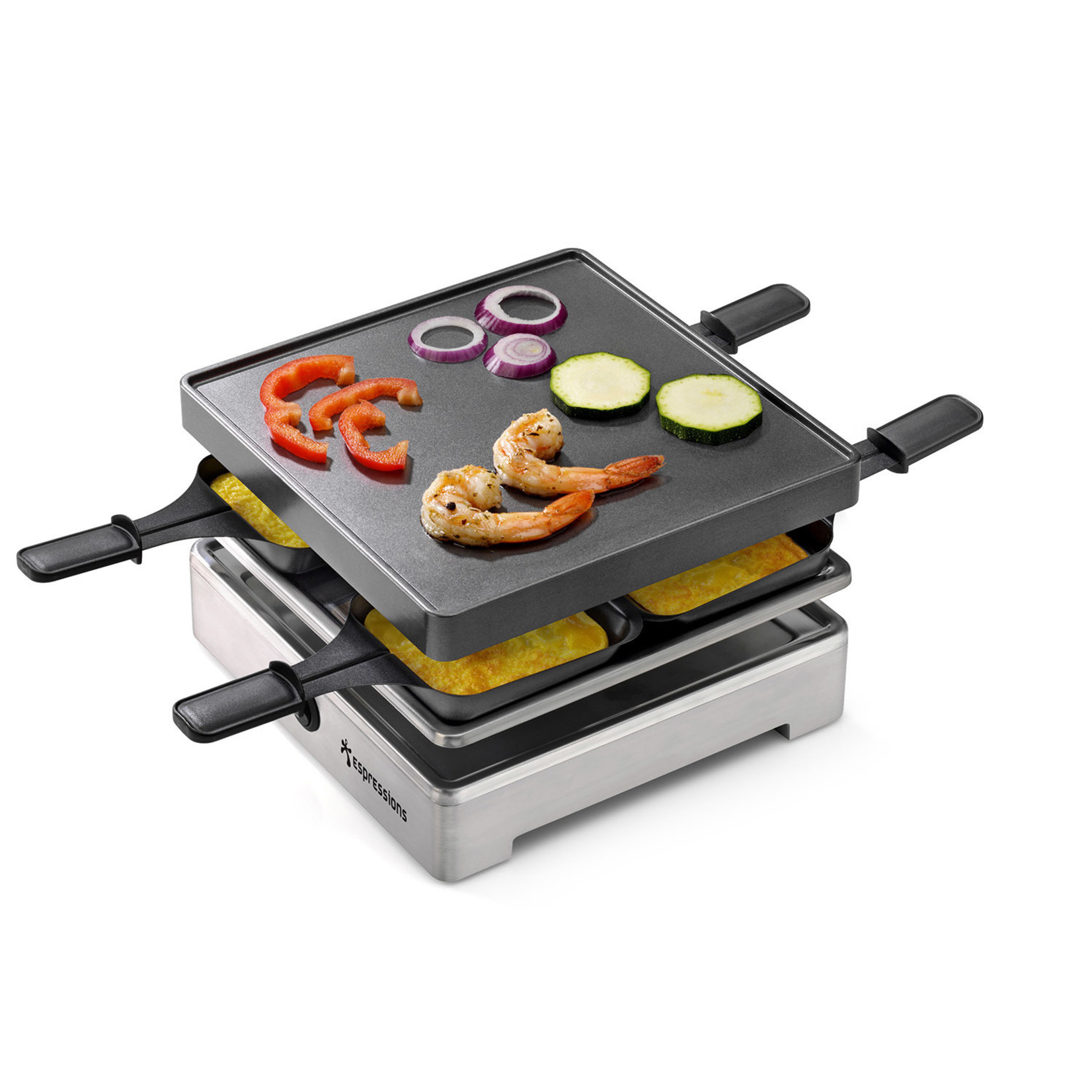 Espressions Espressions Gourmetstel - Raclette Grill Square 4-personen