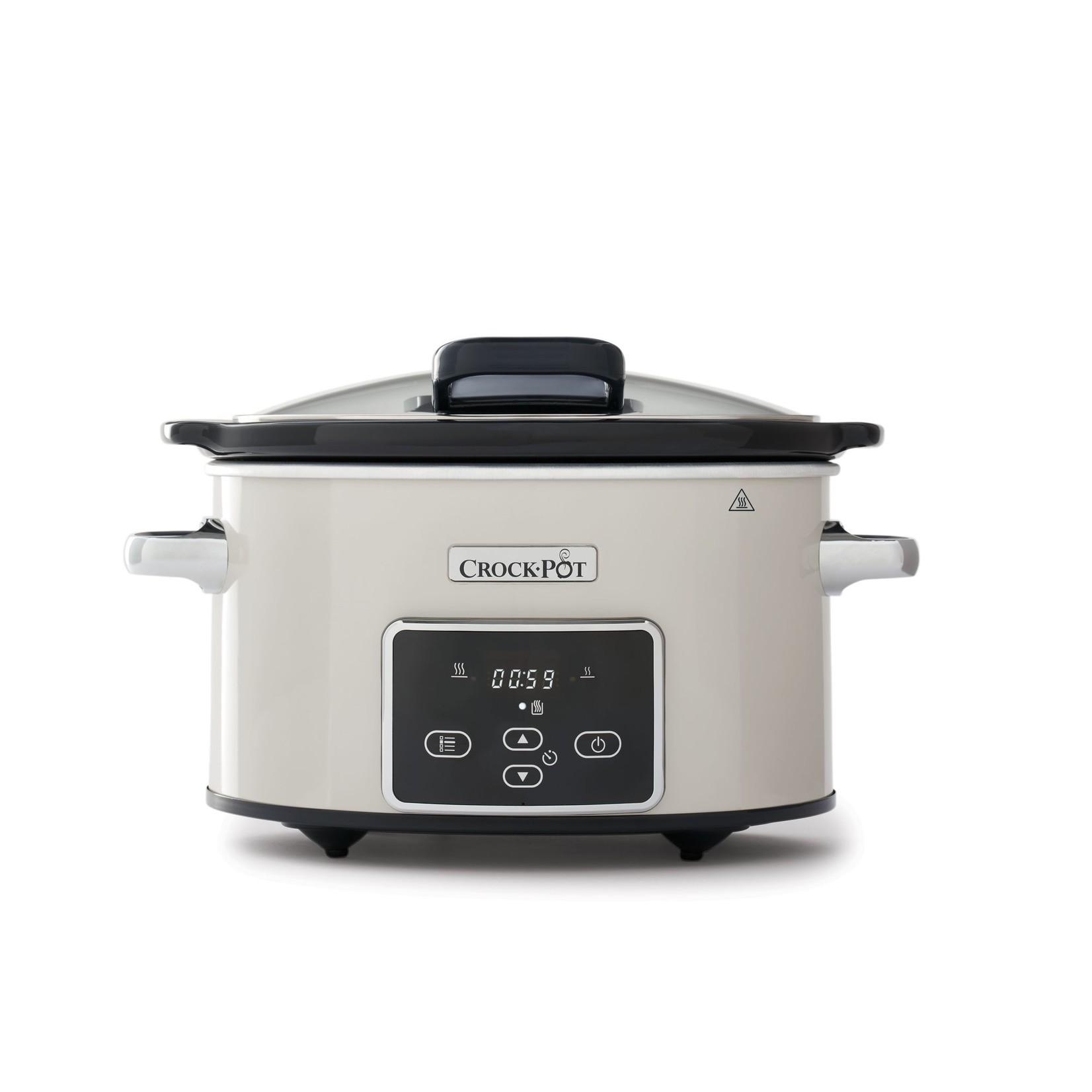 Crock-Pot Crock-Pot slowcooker Beigewit 3,5L Klapdeksel Digitaal